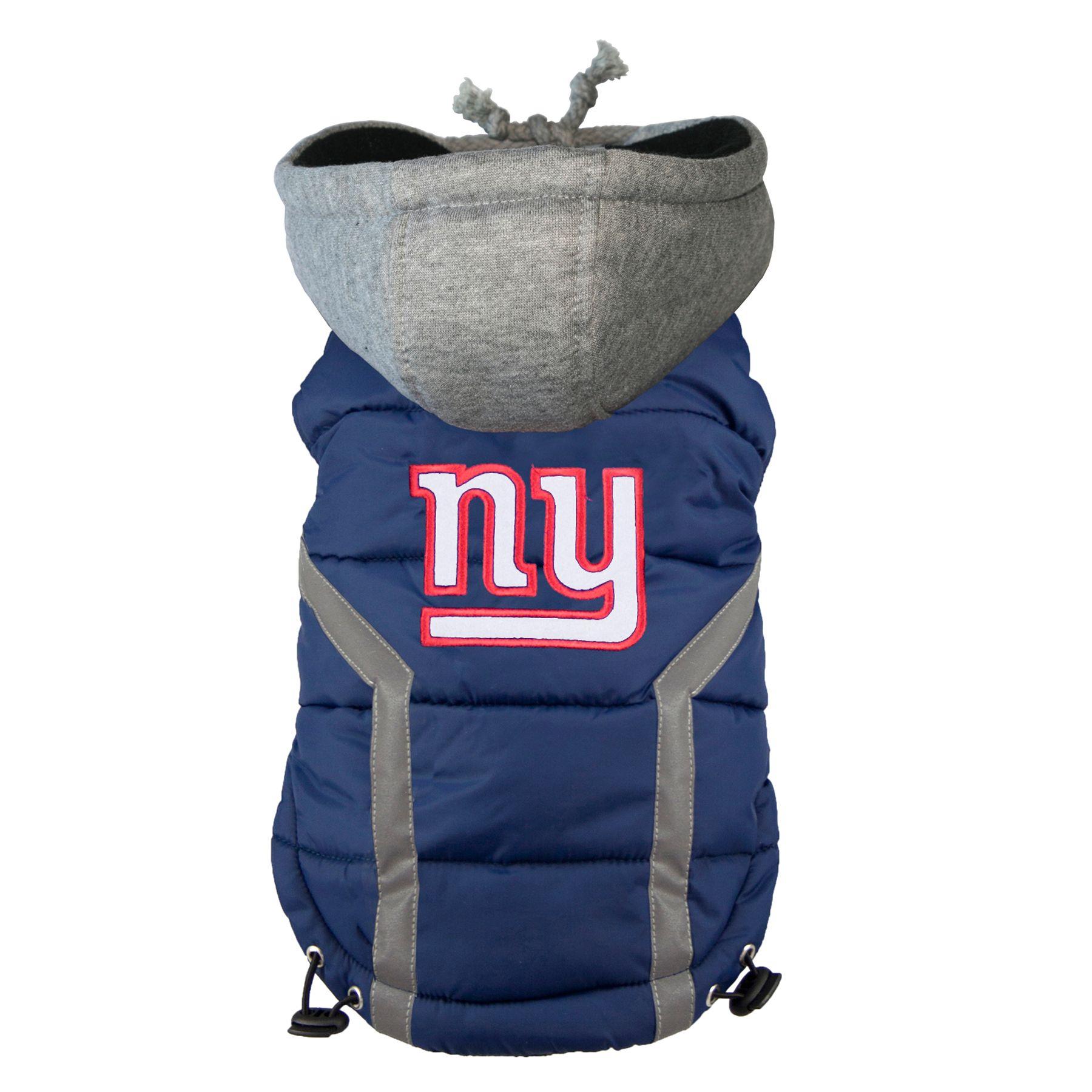 New York Giants Nfl Puffer Vest Size Medium Hip Doggie