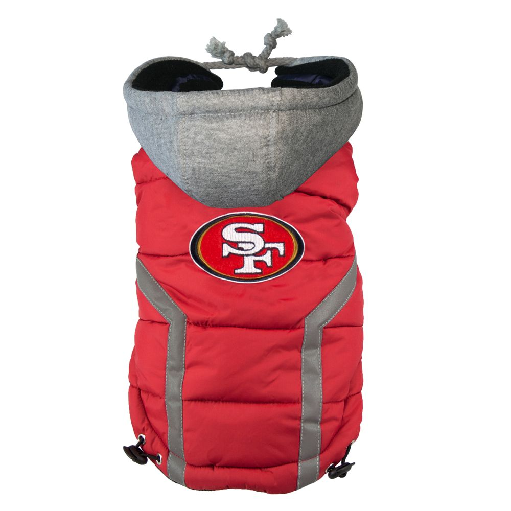 San Francisco 49ers NFL Puffer Vest size: Small, Red & Gray, Hip Doggie 5229725