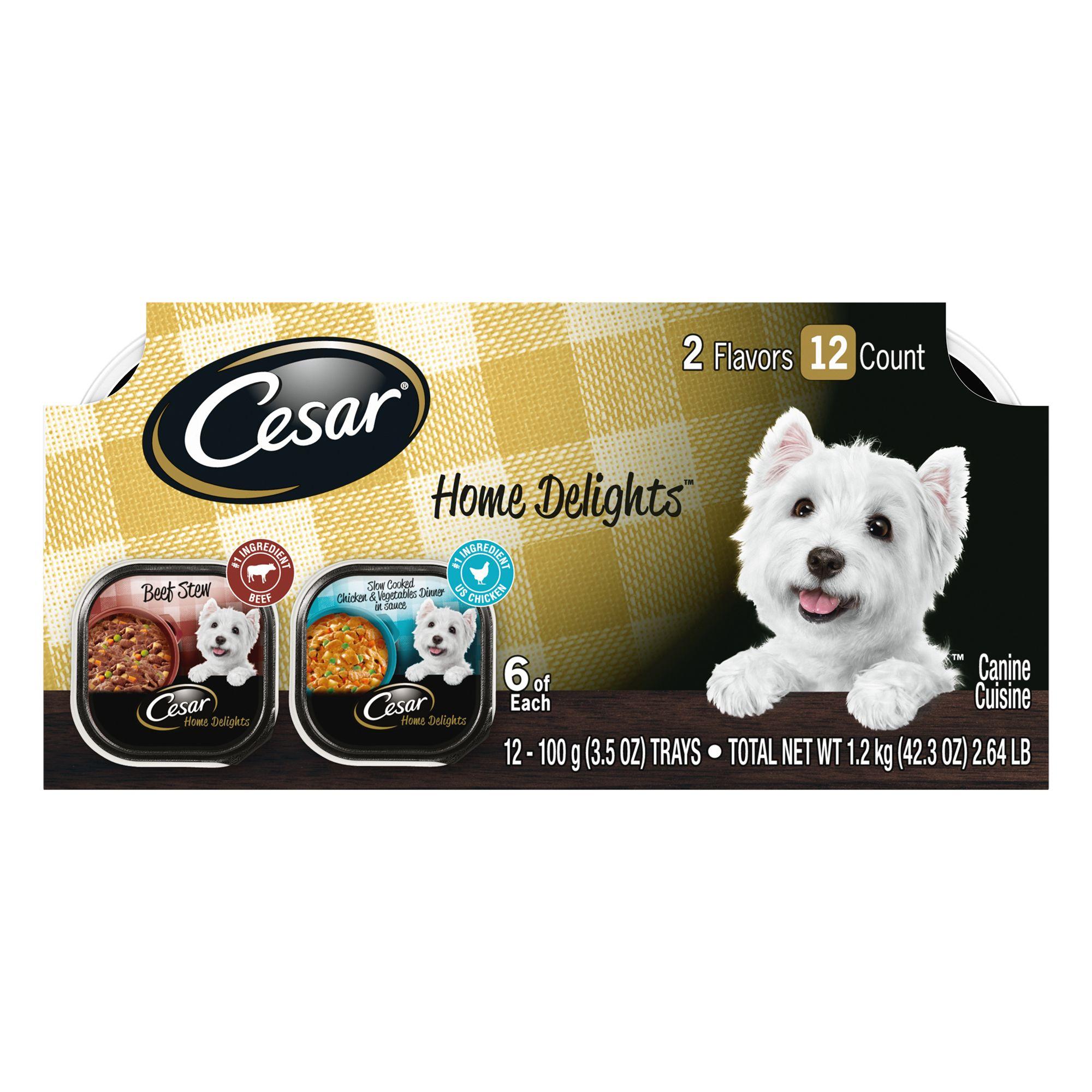 Cesar Home Delights Variety Pack Dog Food Size 3.5 Oz