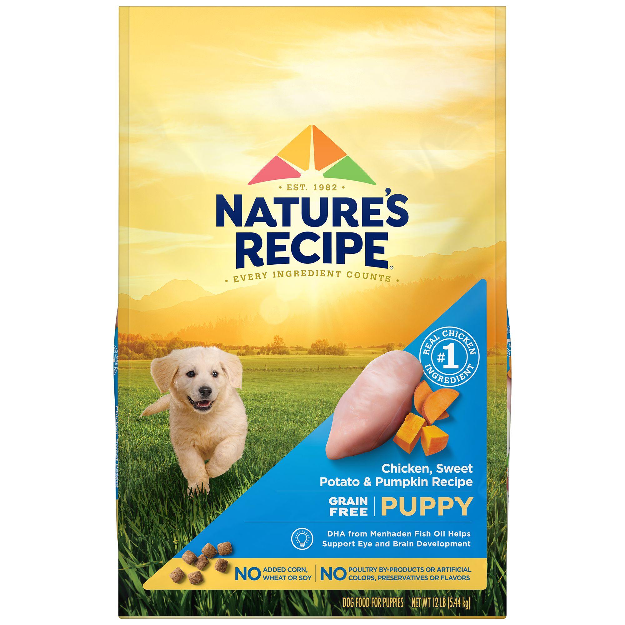 Nature's Recipe® Grain Free Chicken, Sweet Potato and Pu