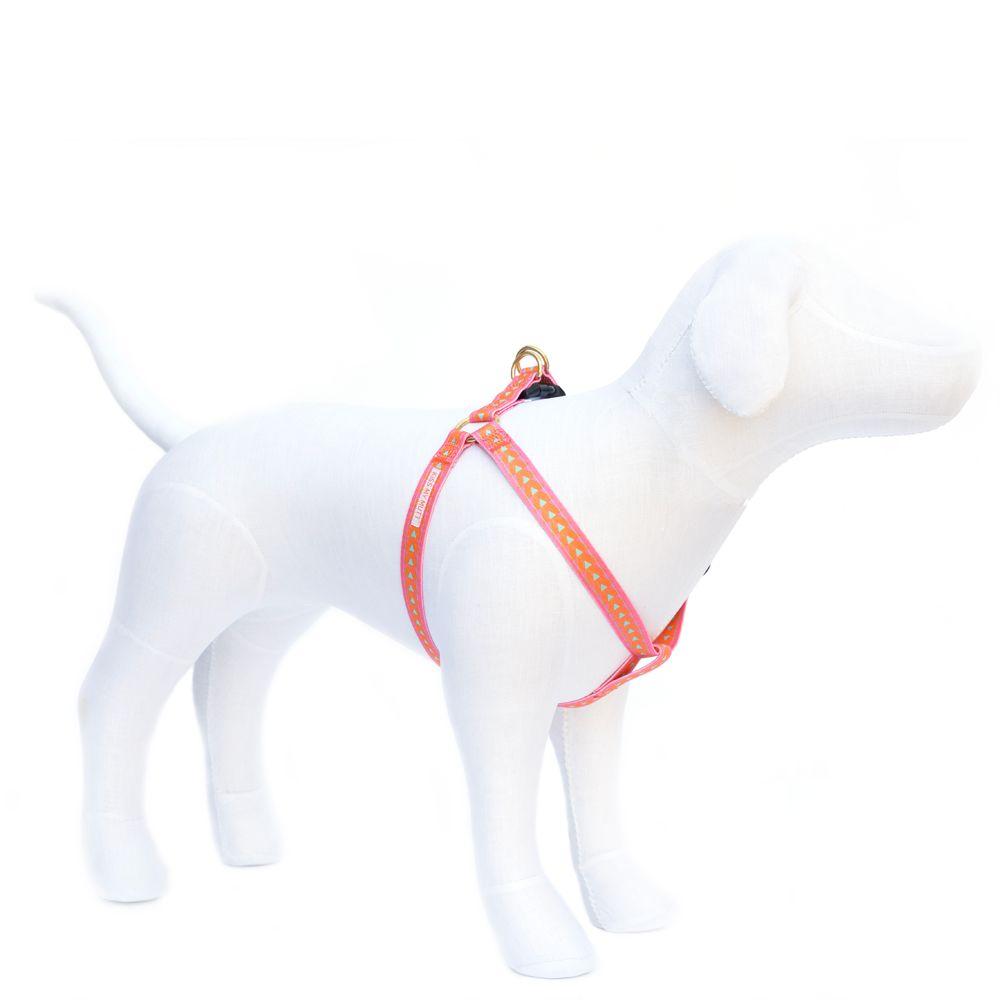 Kiss My Mutt Arrow Print Dog Harness Size Large