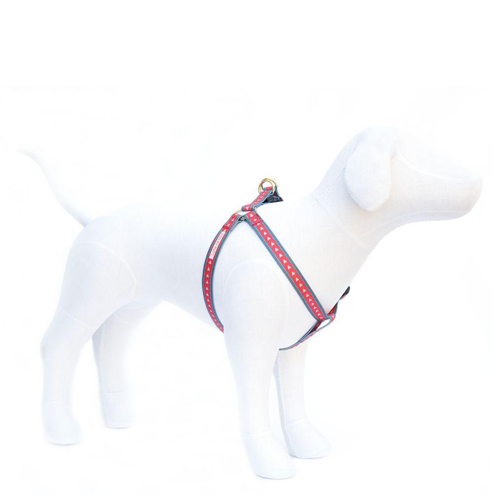 Kiss My Mutt Arrow Print Dog Harness Size Medium