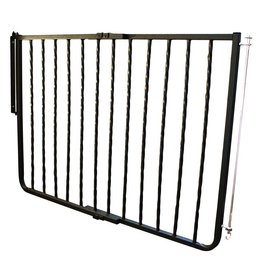 Cardinal Gates Wrought Iron Decor Pet Gate Black