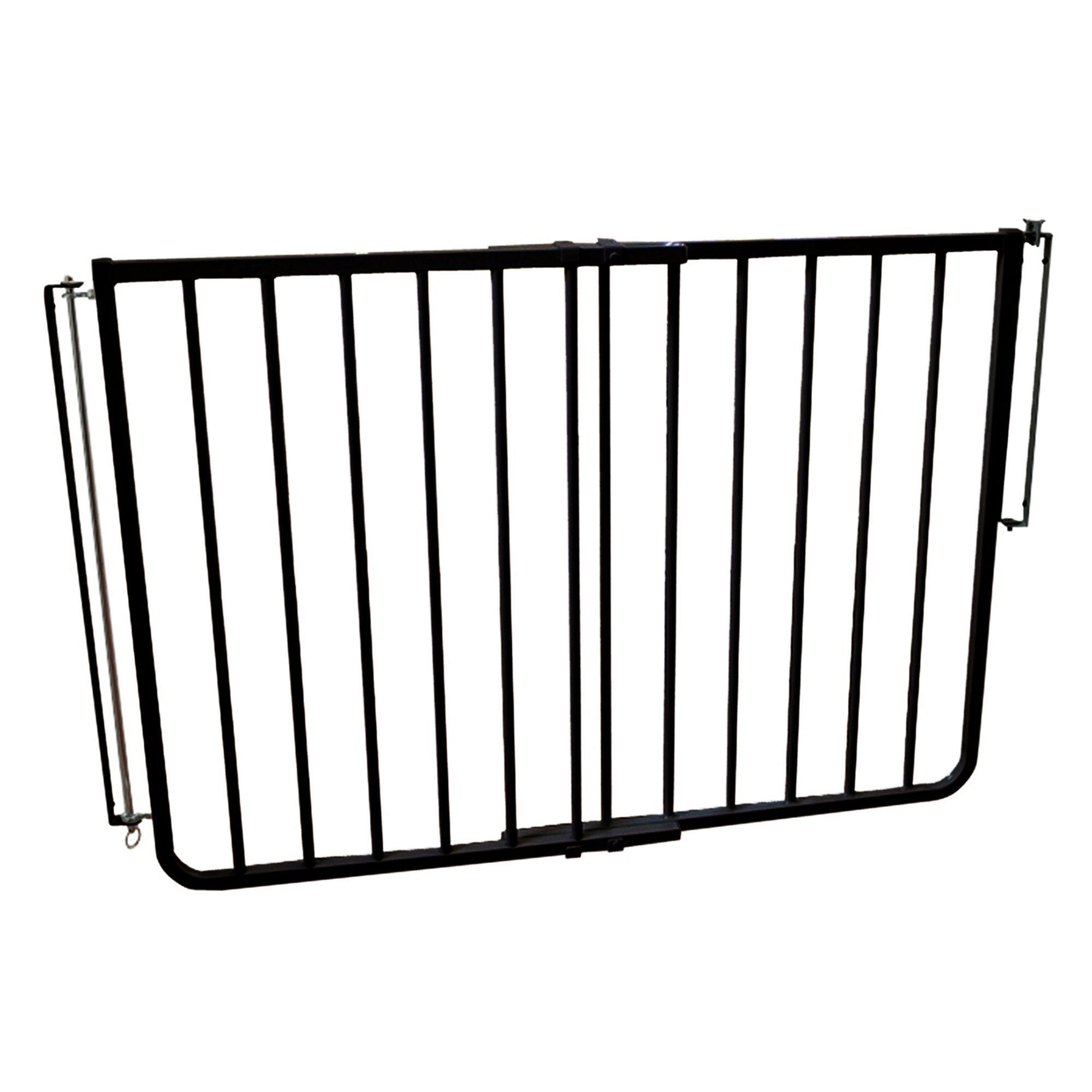 Cardinal Gates Stairway Special Outdoor Pet Gate Black