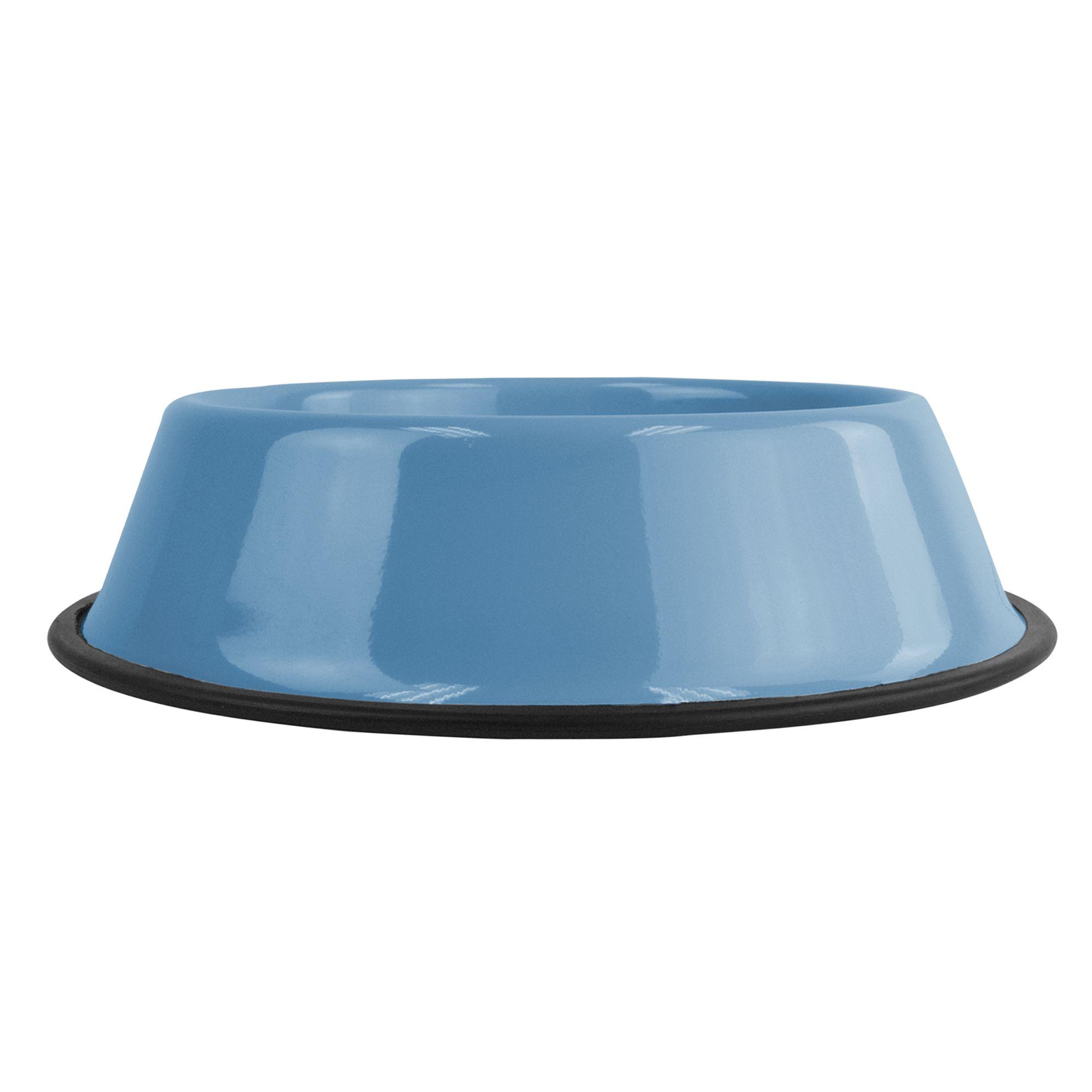 Platinum Pets Non-Tip Dog Bowl size: 28 Oz, Blue