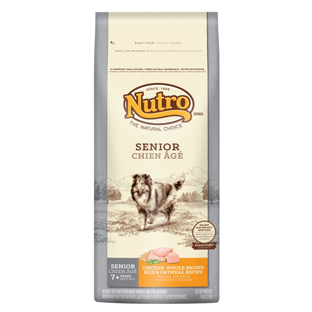 Nutro® Senior Dog Food - Natural, Chicken, Brown Rice and Oatmeal size: 5 Lb 5231186