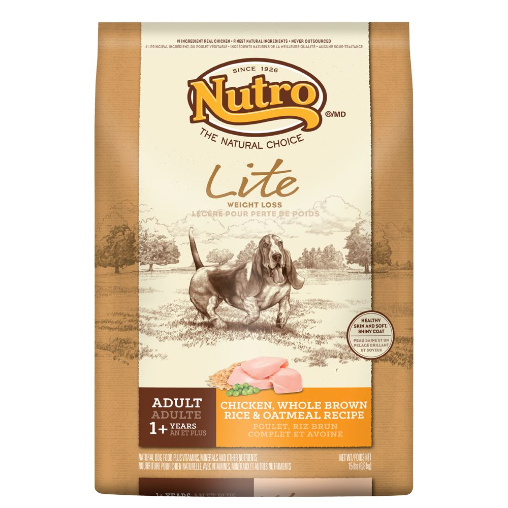 Nutro® Lite Chicken, Brown Rice and Oatmeal Weight Loss Adult Dog Food size: 15 Lb 5231300