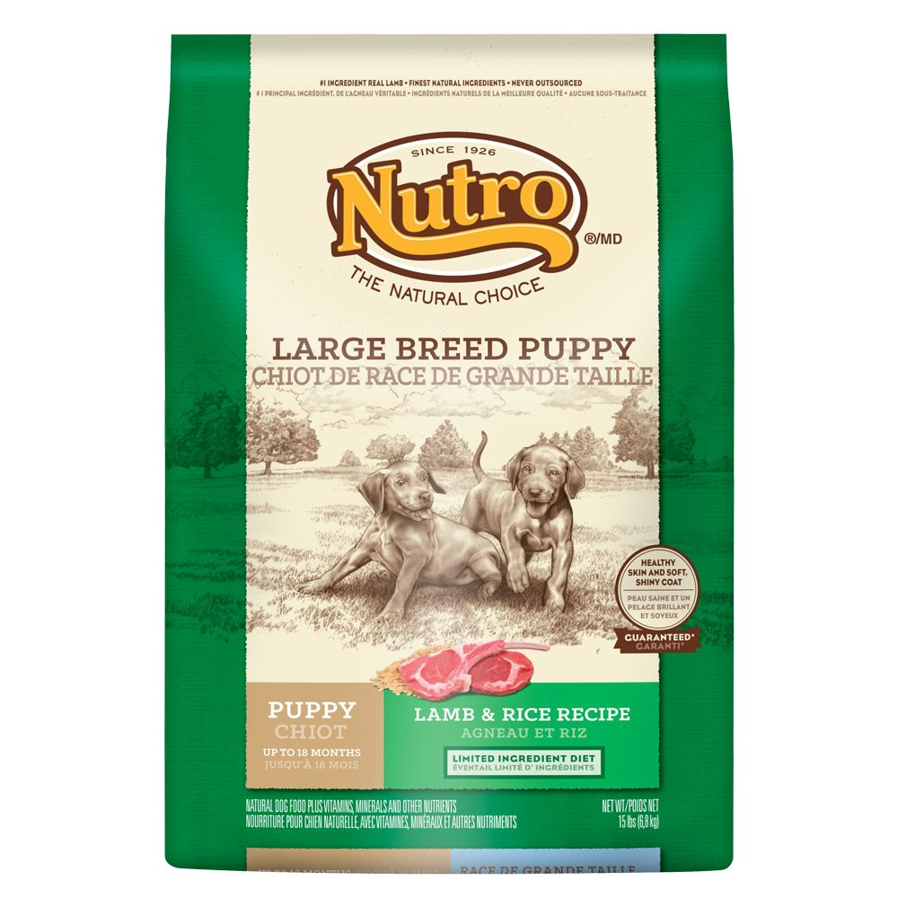 Nutro® Lamb and Rice Large Breed Puppy Food size: 15 Lb 5231398