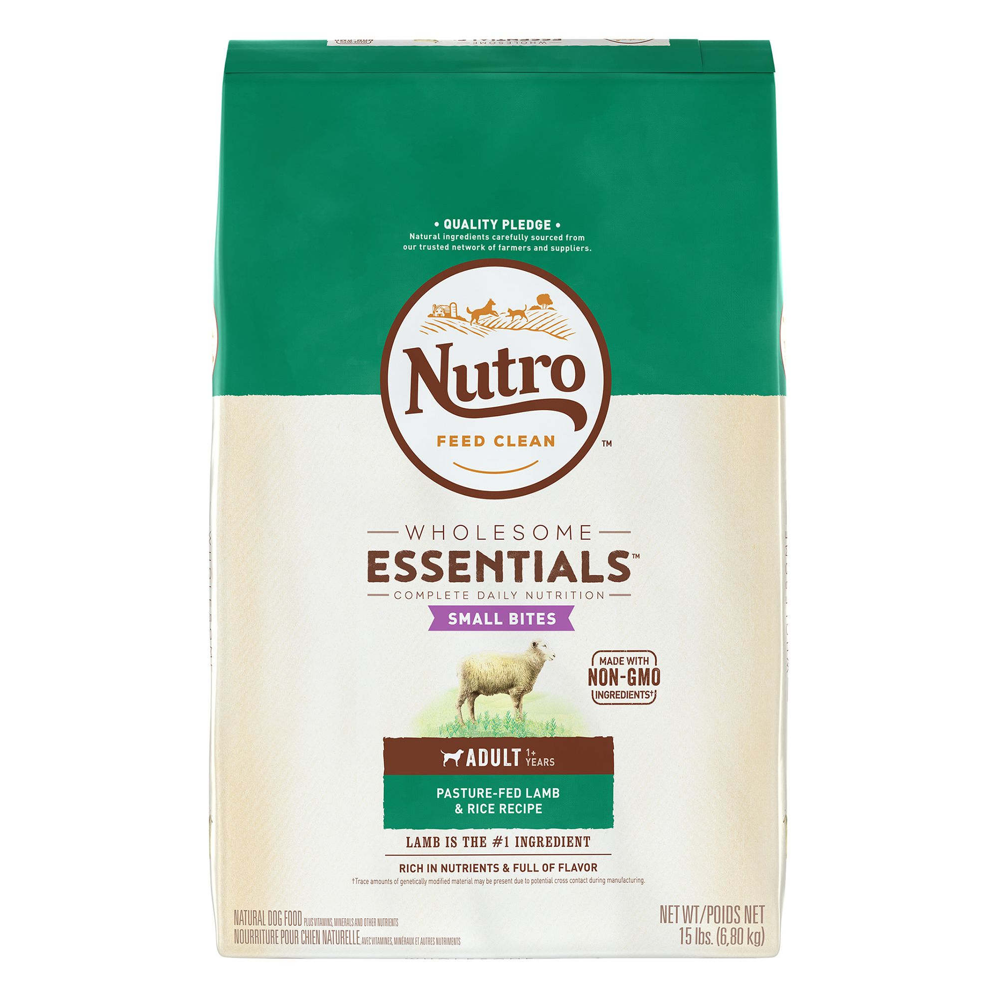 Nutro® Small Bites Adult Dog Food - Natural, Lamb and Rice size: 15 Lb 5231403