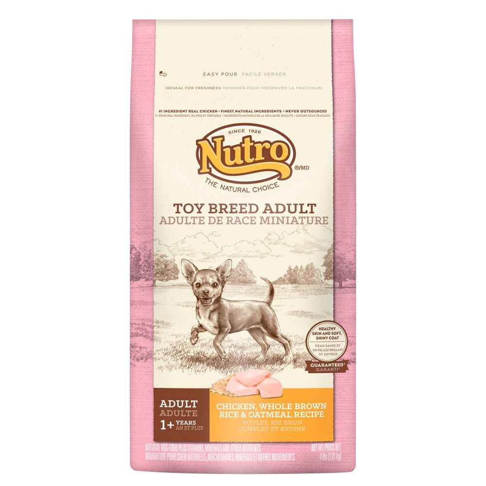 Nutro Chicken, Brown Rice and Oatmeal Toy Breed Adult Dog Food size: 4 Lb 5231410