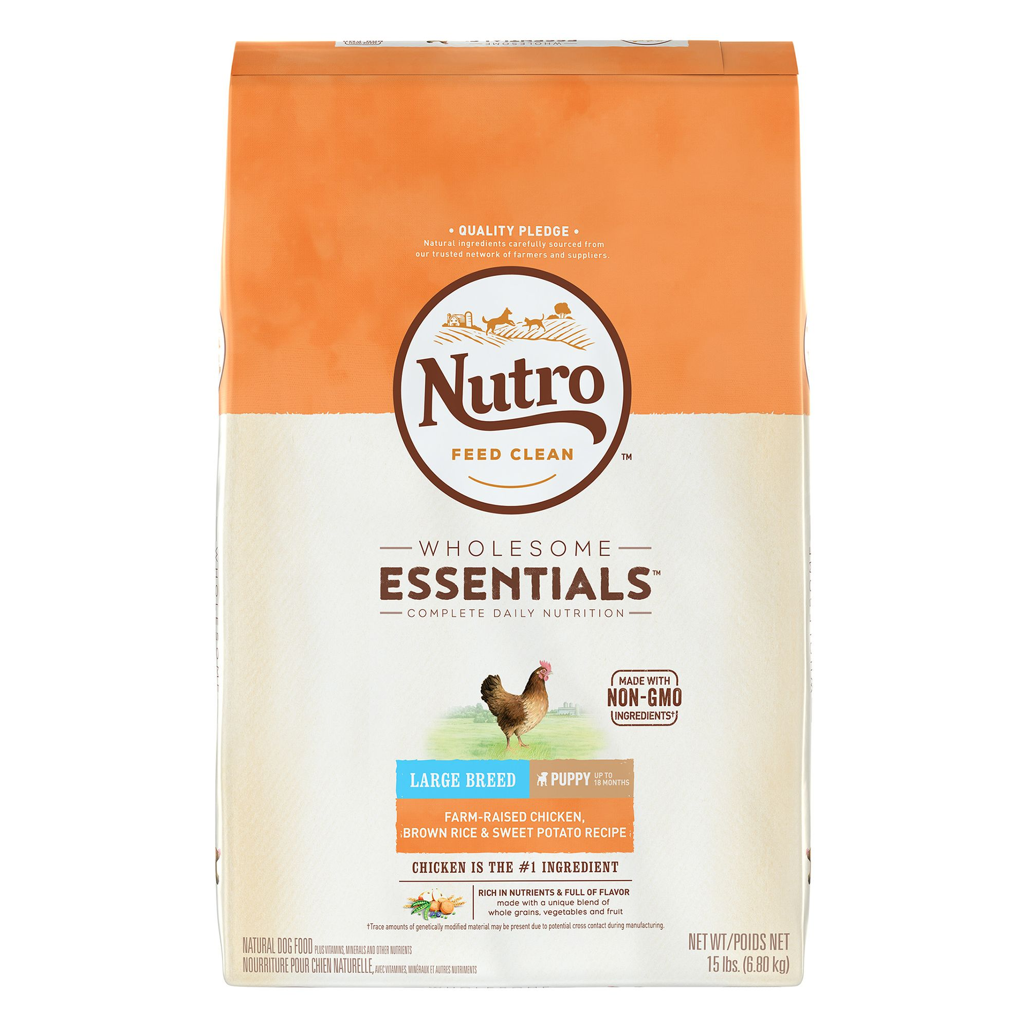 Nutro® Chicken, Brown Rice and Oatmeal Large Breed Puppy Food size: 15 Lb 5231508