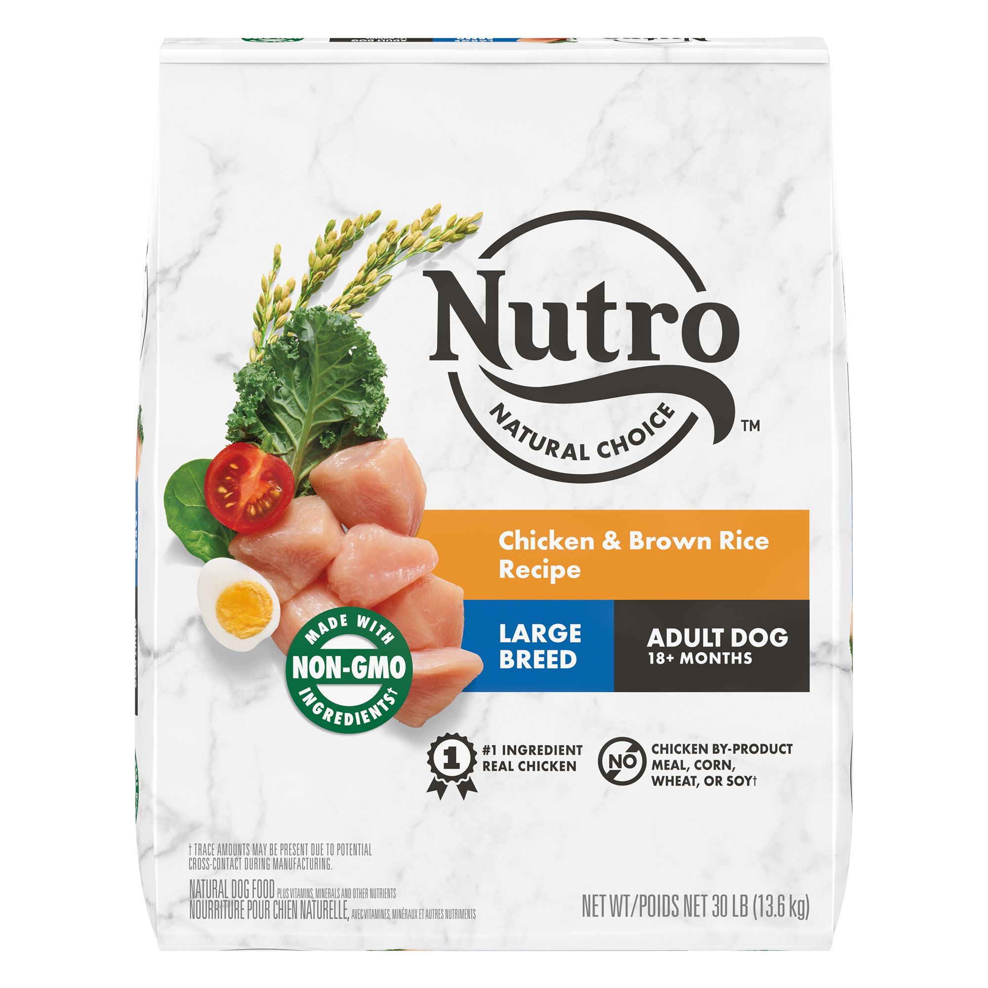 Nutro, Wholesome Essentials Large Breed Dog Food - Natural, Chicken, Brown Rice and Sweet Potato size: 30 Lb, Kibble, Adult (1-7 years) 5231510
