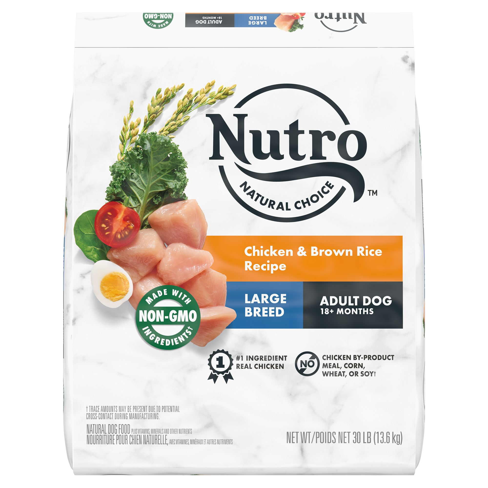 Nutro, Wholesome Essentials Large Breed Dog Food - Natural, Chicken, Brown Rice and Sweet Potato size: 30 Lb 5231510