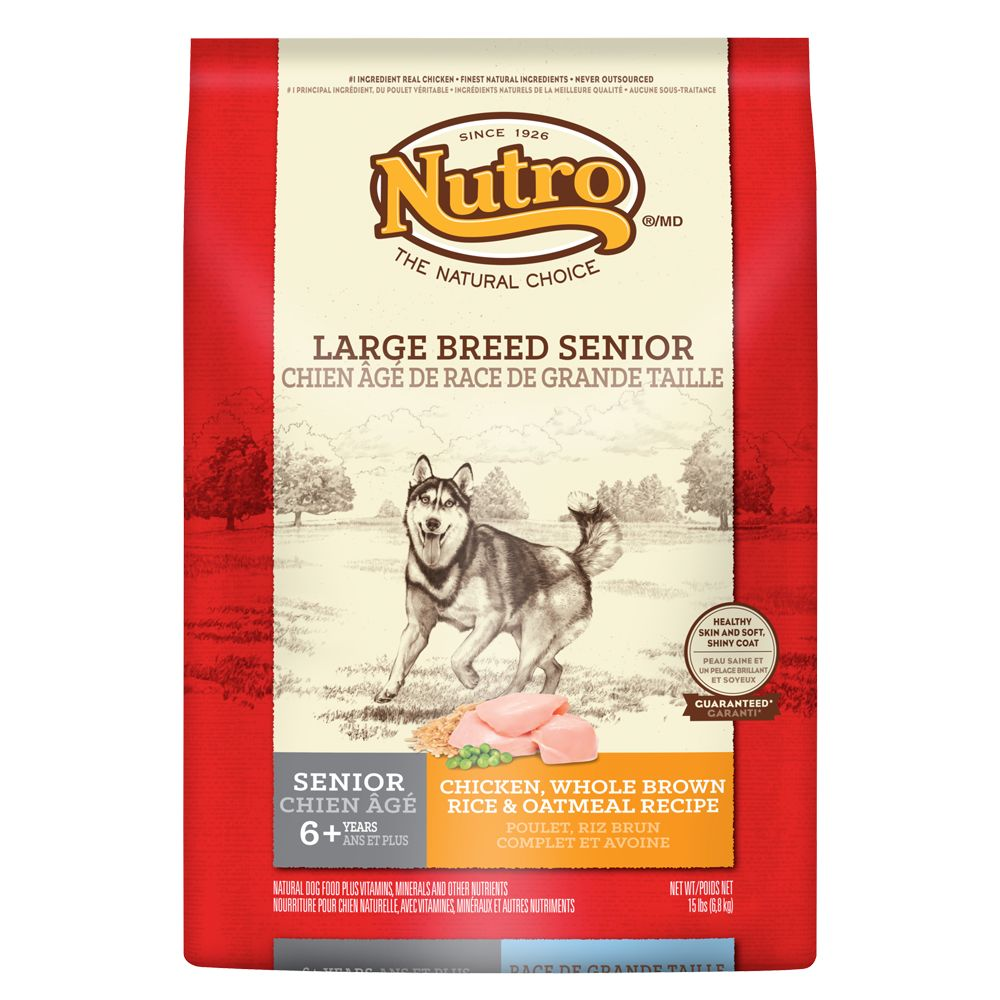 Nutro® Large Breed Senior Dog Food - Natural, Chicken, Brown Rice and Oatmeal size: 15 Lb 5231513