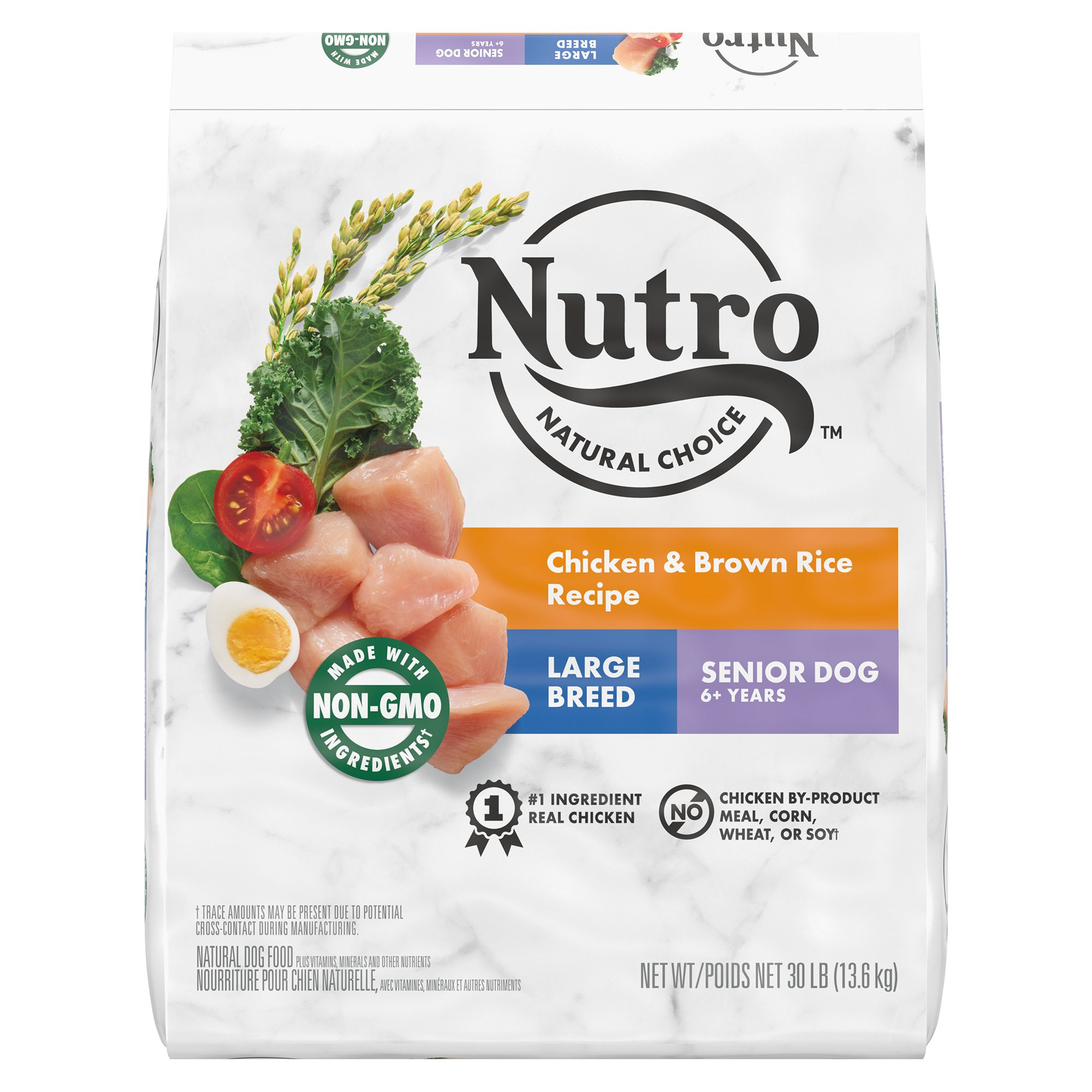 Nutro® Large Breed Senior Dog Food - Natural, Chicken, Brown Rice and Oatmeal size: 30 Lb 5231529