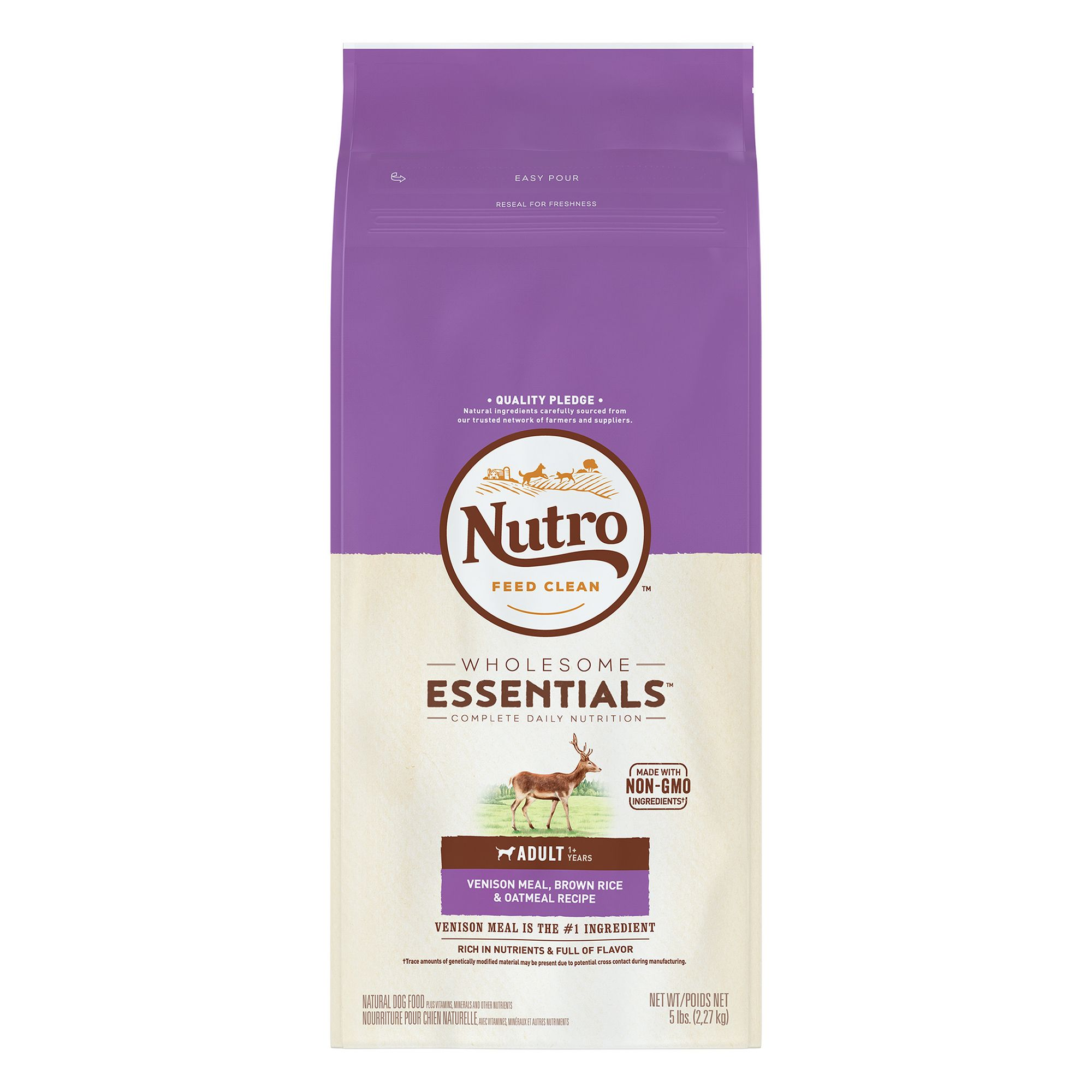 Nutro® Adult Dog Food - Natural, Venison Meal, Brown Rice and Oatmeal size: 5 Lb 5231648