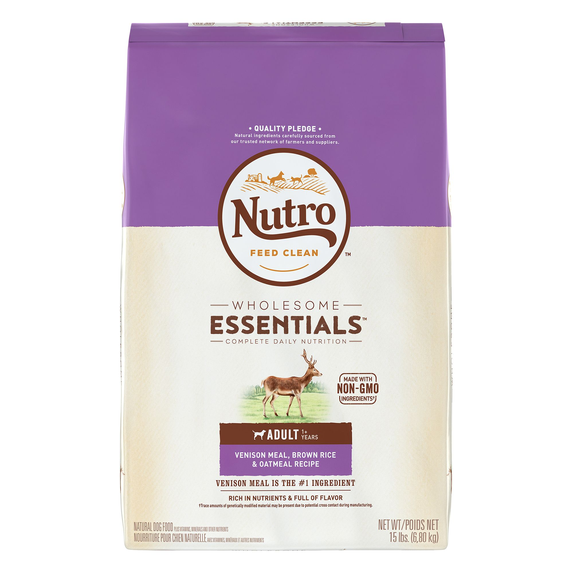 Nutro® Adult Dog Food - Natural, Venison Meal, Brown Rice and Oatmeal size: 15 Lb 5231656