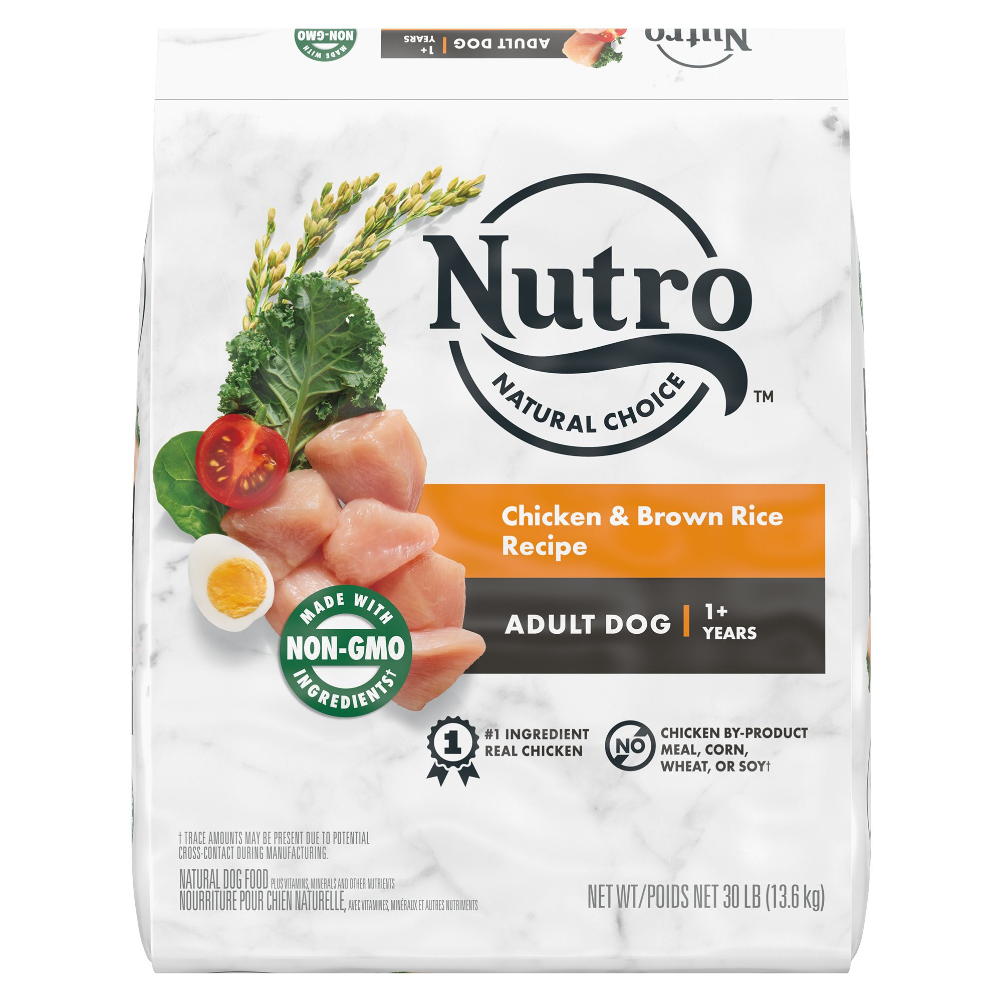 Nutro, Wholesome Essentials Adult Dog Food - Natural, Non-GMO, Chicken, Brown Rice and Sweet Pot size: 30 Lb, Kibble, (1-7 years) 5231834