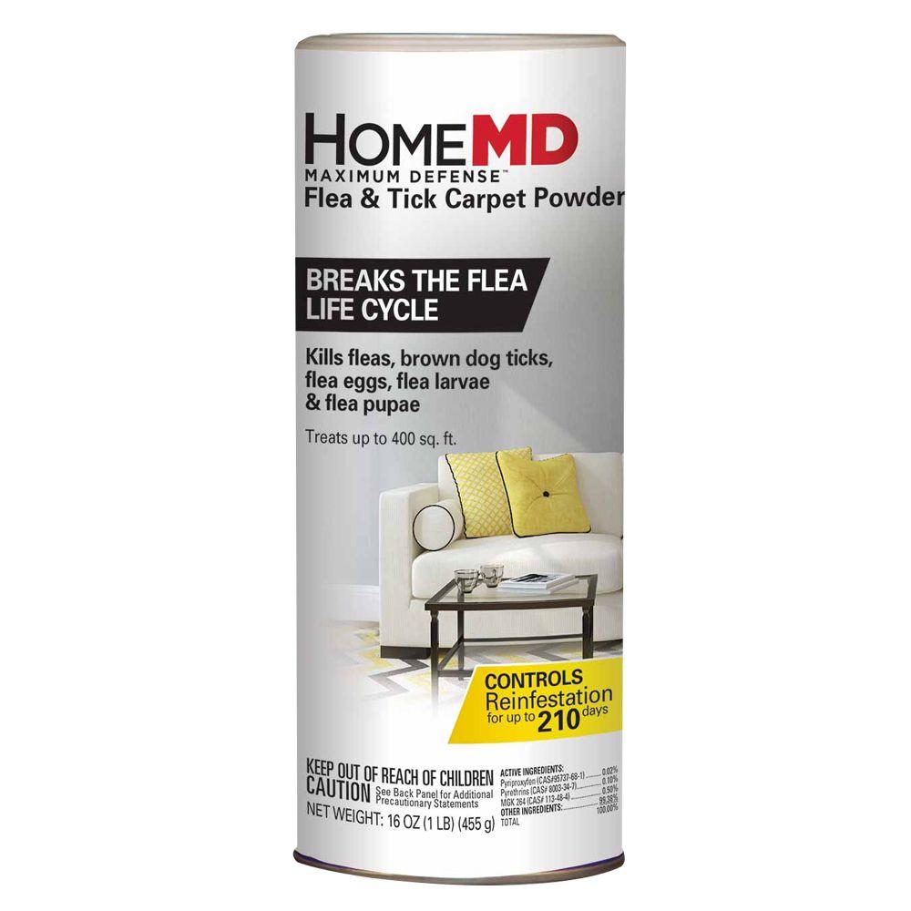 Home Md Maximum Defense Flea And Tick Carpet Powder