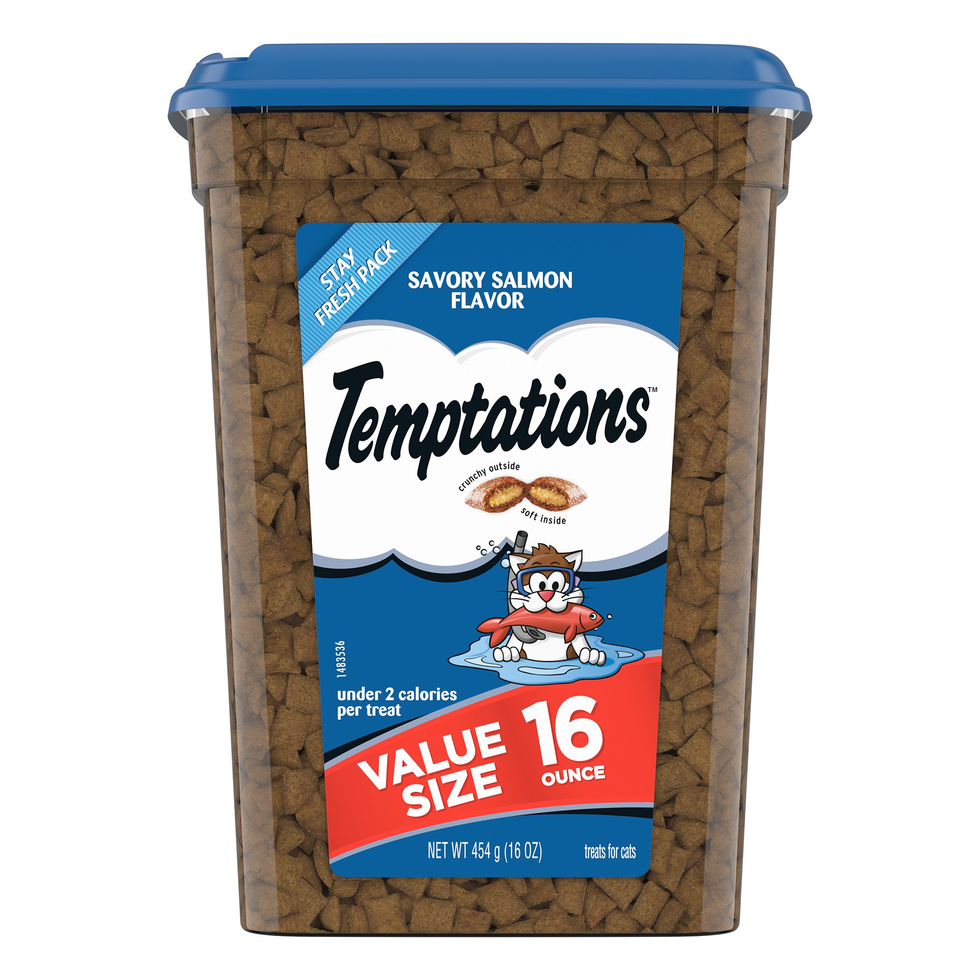 Temptations Cat Treat Savory Salmon Size 16 Oz