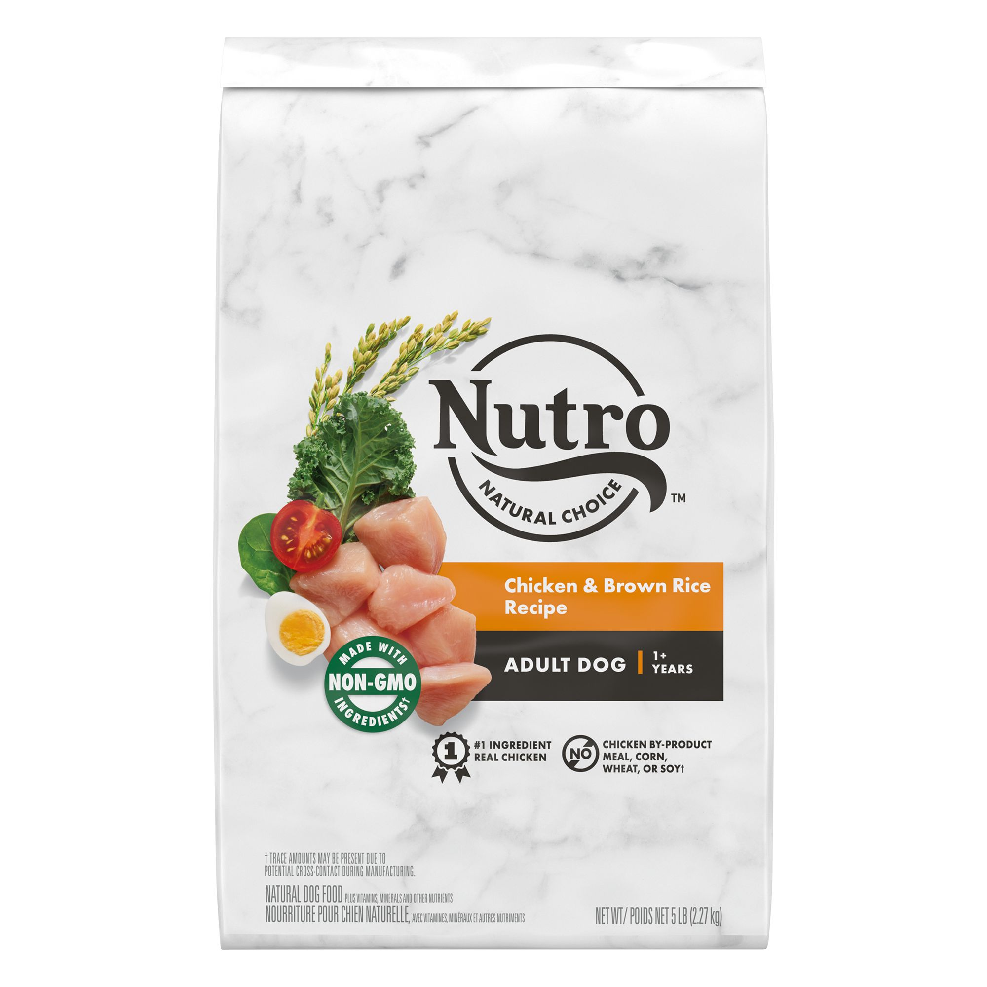 Nutro, Wholesome Essentials Adult Dog Food - Natural, Non-GMO, Chicken, Brown Rice and Sweet Pot size: 5 Lb 5232056