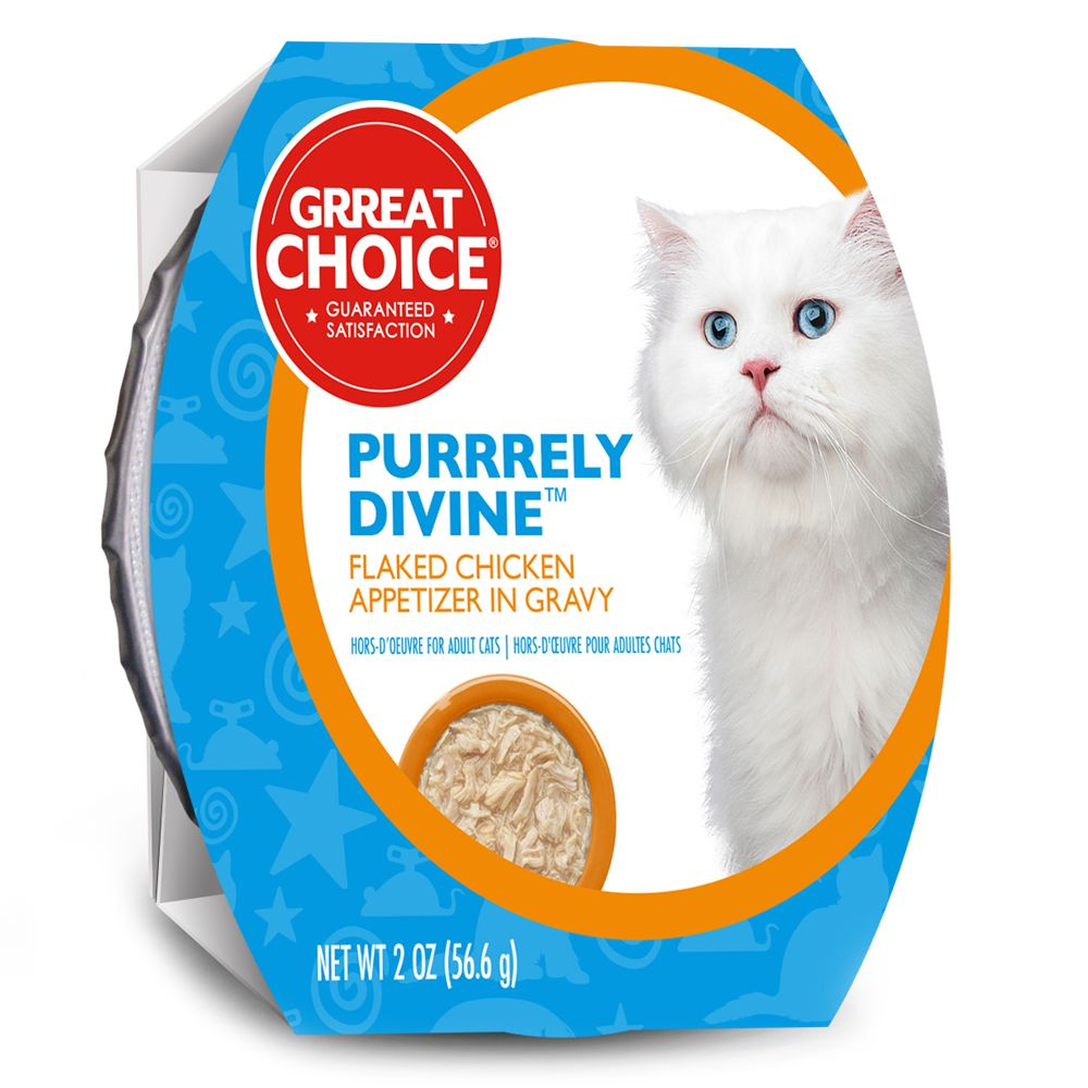 Grreat Choice® Purrrely Divine Chicken Flaked Cat Food size: 2 Oz 5232361
