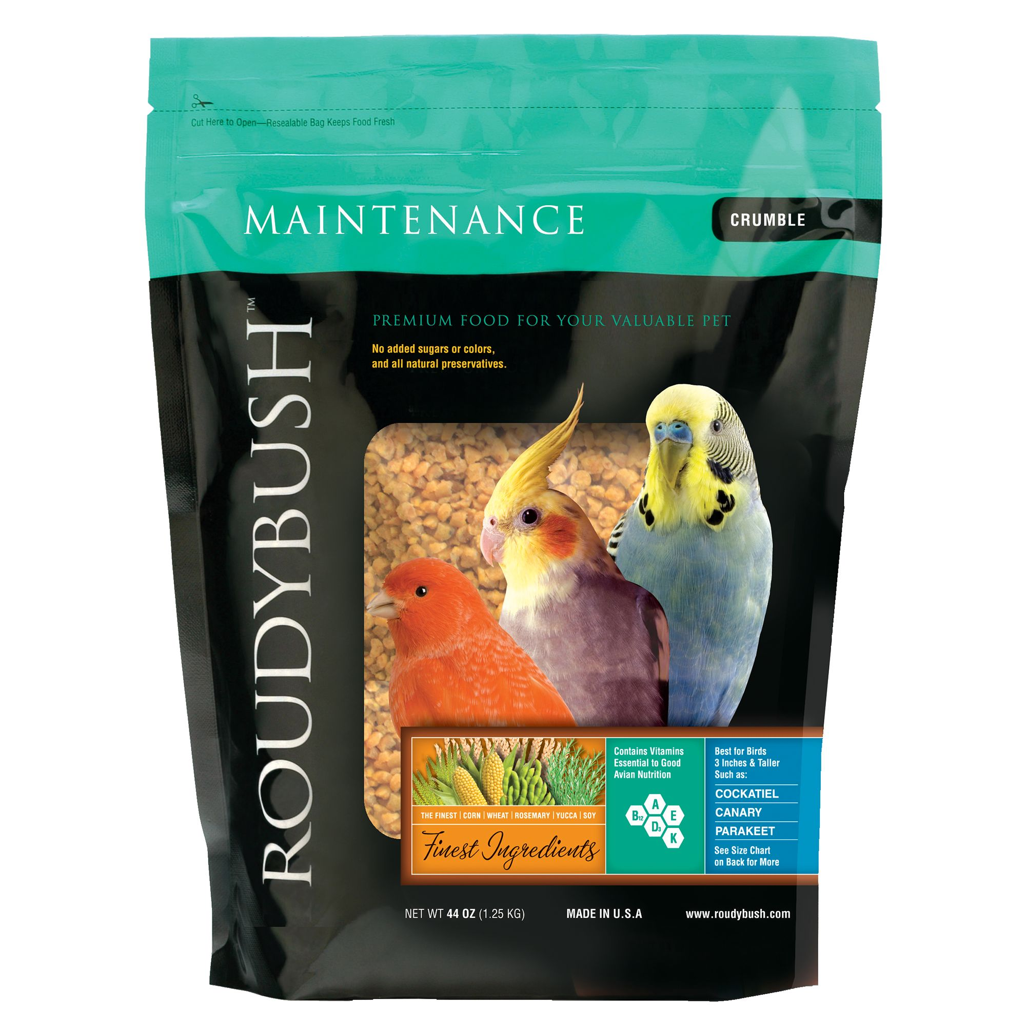 Roudybush Maintenance Crumble Bird Food Size 44 Oz