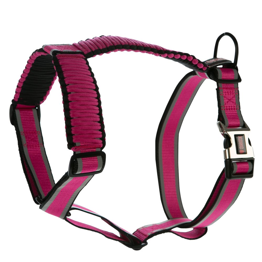 Kong Paracord Reflective Adjustable Harness Size Small Pink