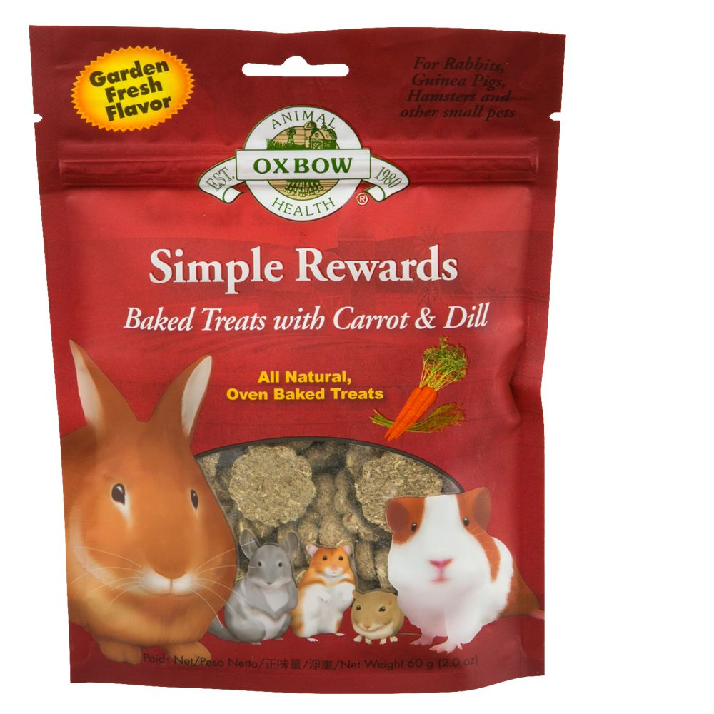 Oxbow Simple Rewards Small Animal Treat size: Small, Carrot & Dill, All Life Stages, Timothy Grass 5233392
