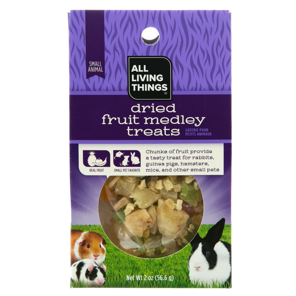 All Living Things Dried Fruit Medley Small Animal Treats Size 2 Oz