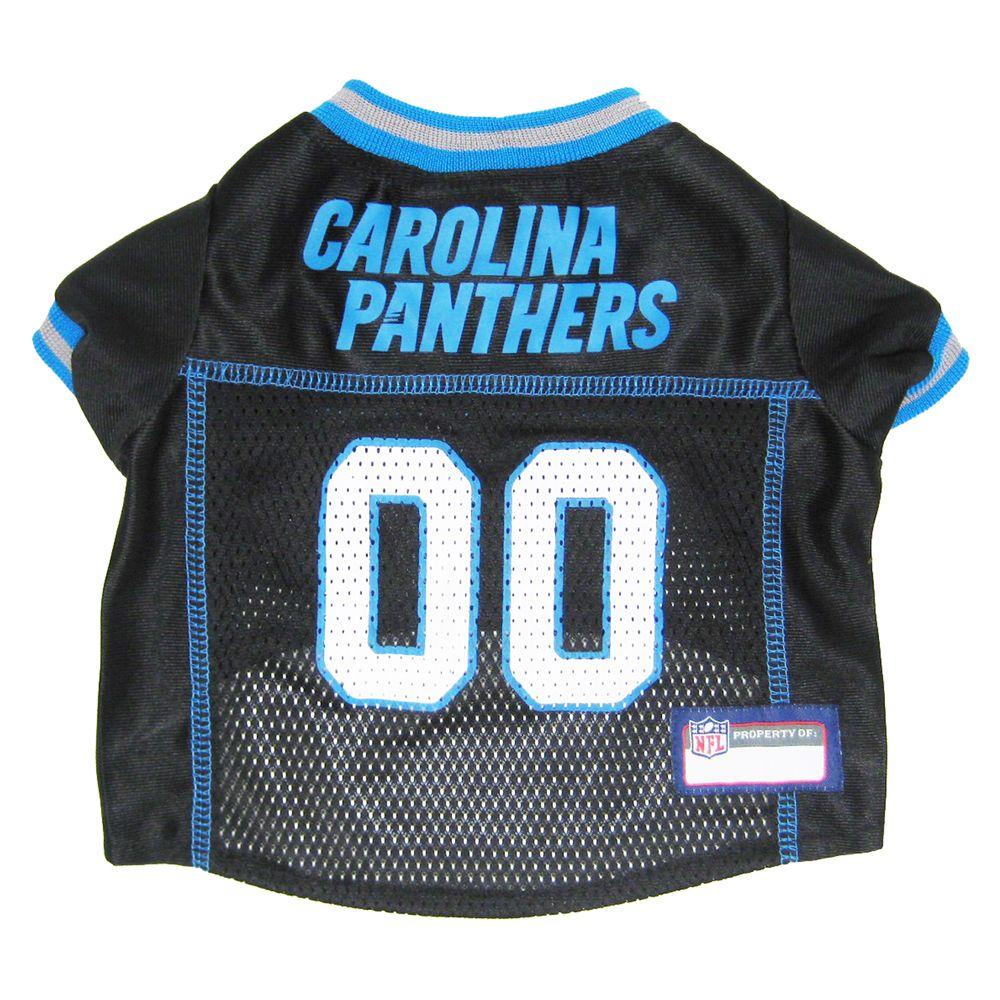 Carolina Panthers Nfl Jersey Size Large Black Pets First