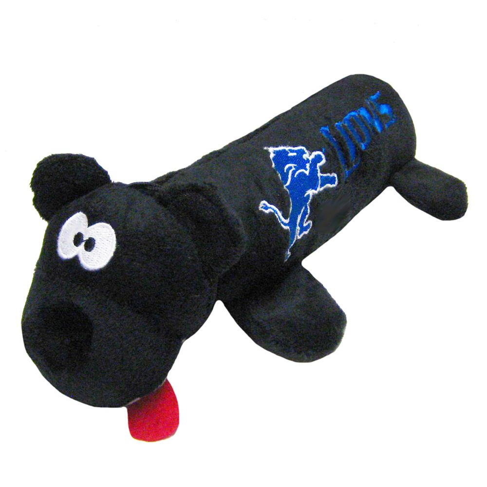 Detroit Lions NFL Tube Dog Toy, Black 5234058