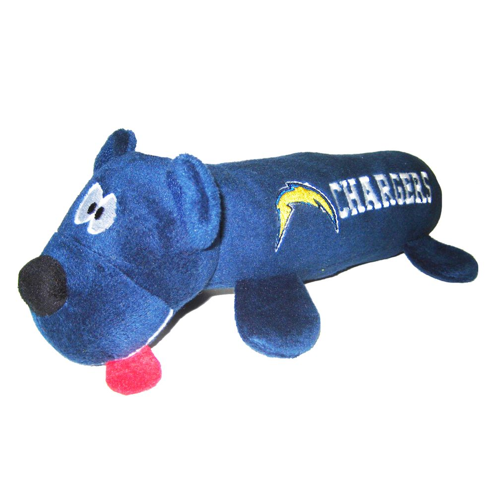 San Diego Chargers NFL Tube Dog Toy, Blue, Pets First 5234380