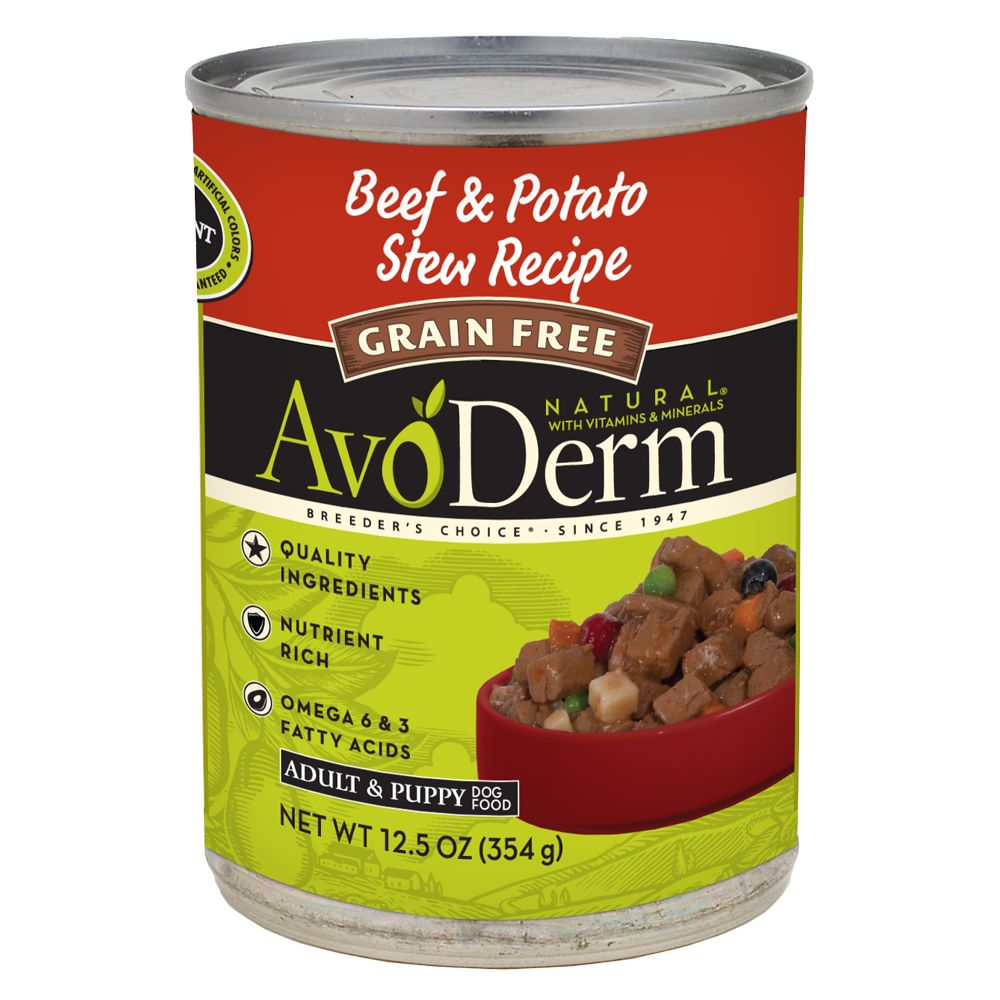 AvoDerm Natural Dog Food - Grain Free, Beef and Potato Stew size: 12.5 Oz 5234815