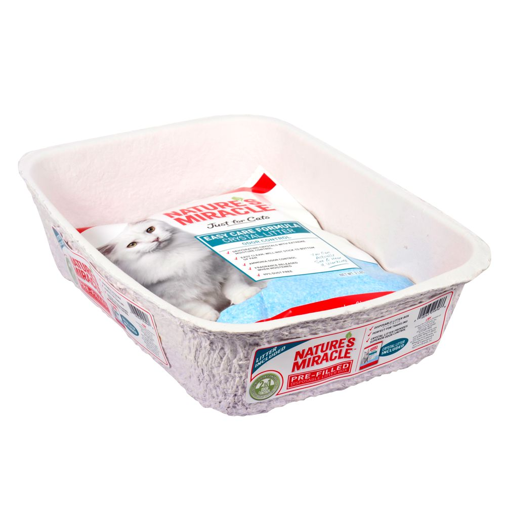 Nature's Miracle Pre-Filled Crystal Disposable Cat Litter Pan 5235024