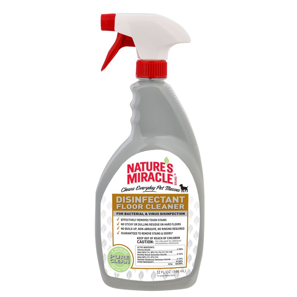 Nature's Miracle Floor Cleaner Disinfectant Spray size: 32 Fl Oz 5235034
