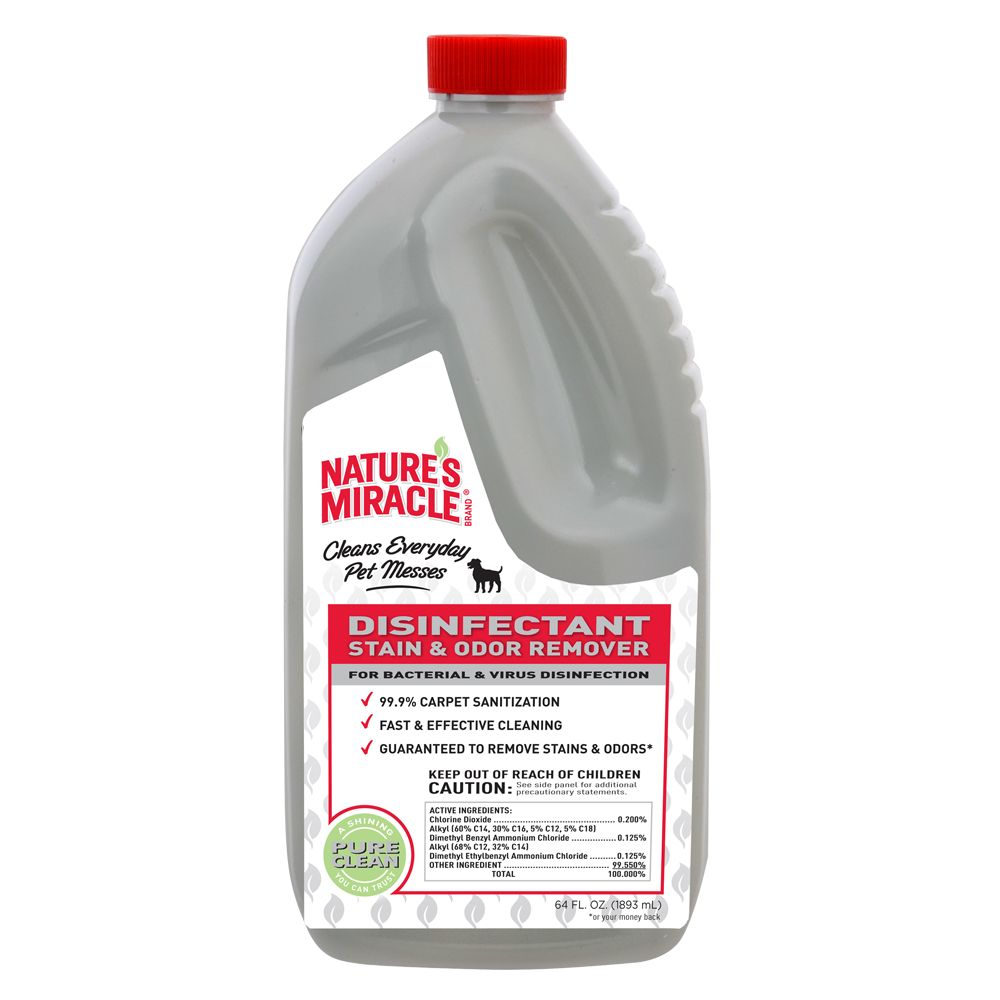 Sort's Miracle Disinfectant Stain and Odor Remover Dog Solution size: 64 Fl Oz