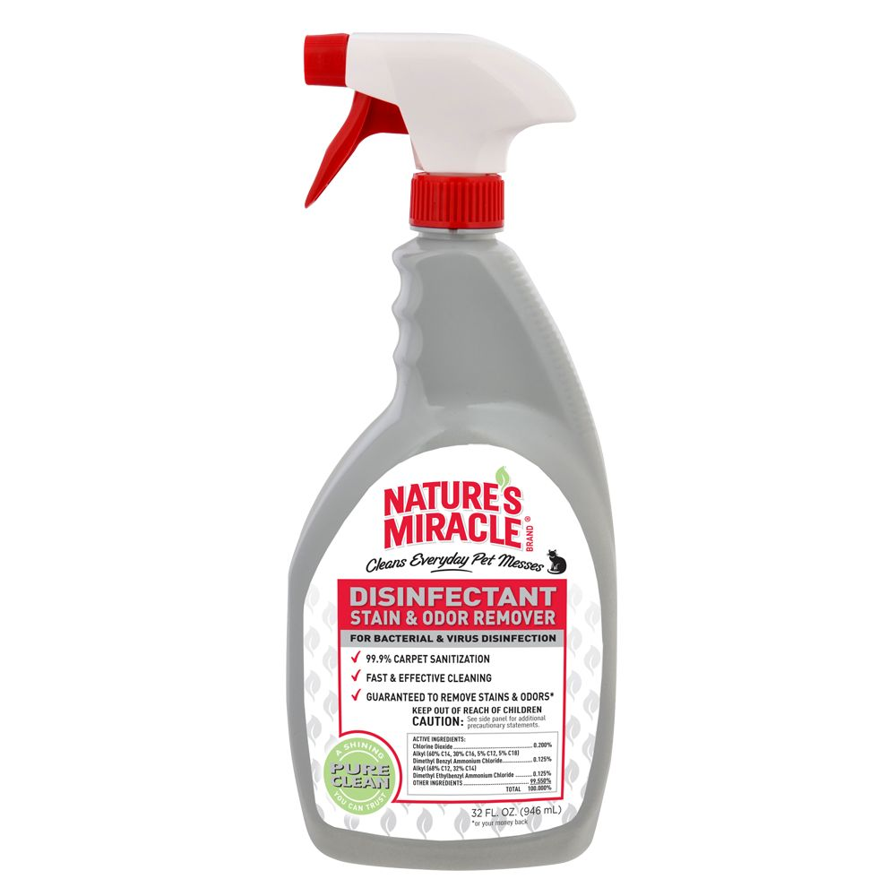 Constitution's Miracle Disinfectant Stain and Odor Remover Cat Solution size: 32 Fl Oz