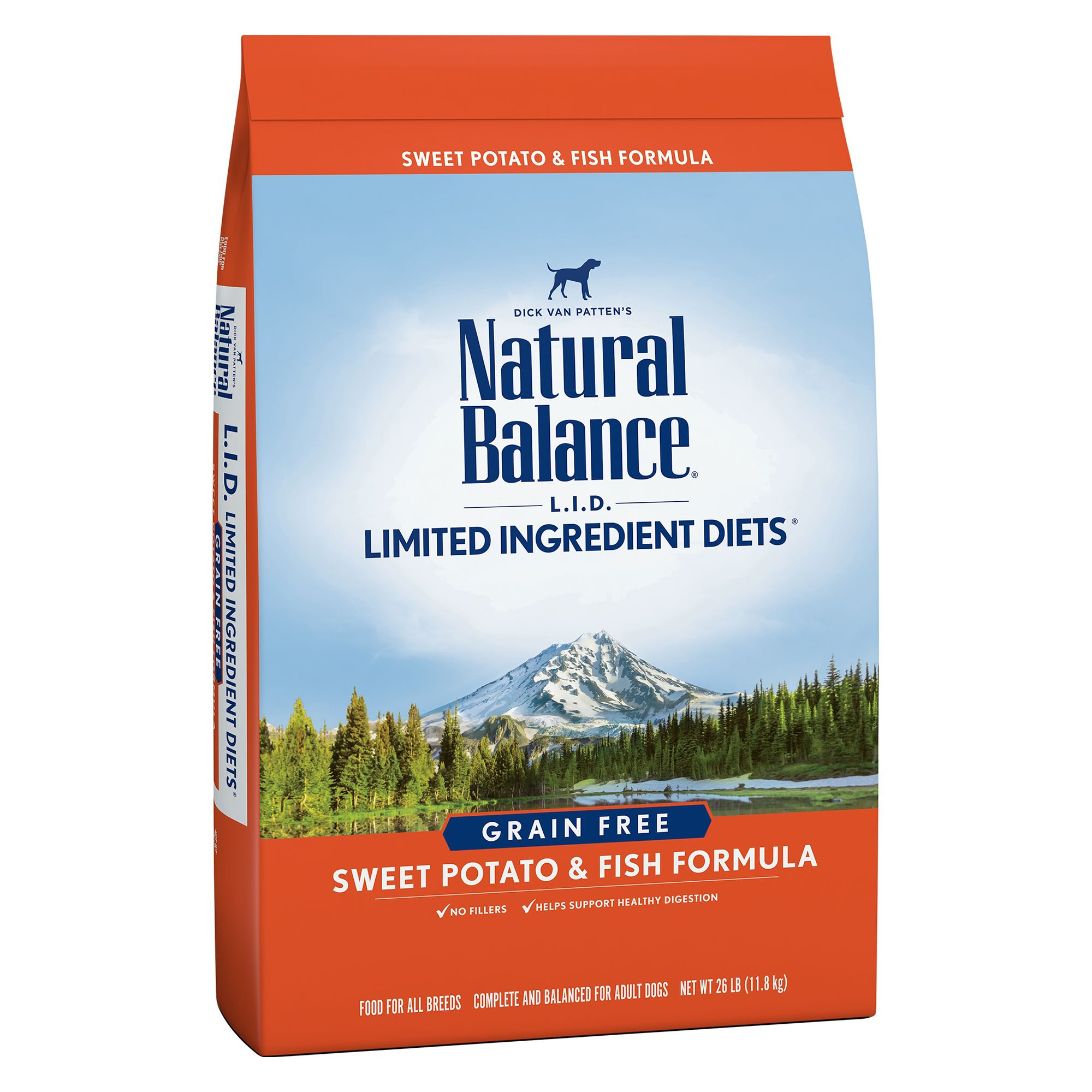 Natural Balance Limited Ingredient Diets Dog Food Grain Free Sweet Potato And Fish Size 26 Lb