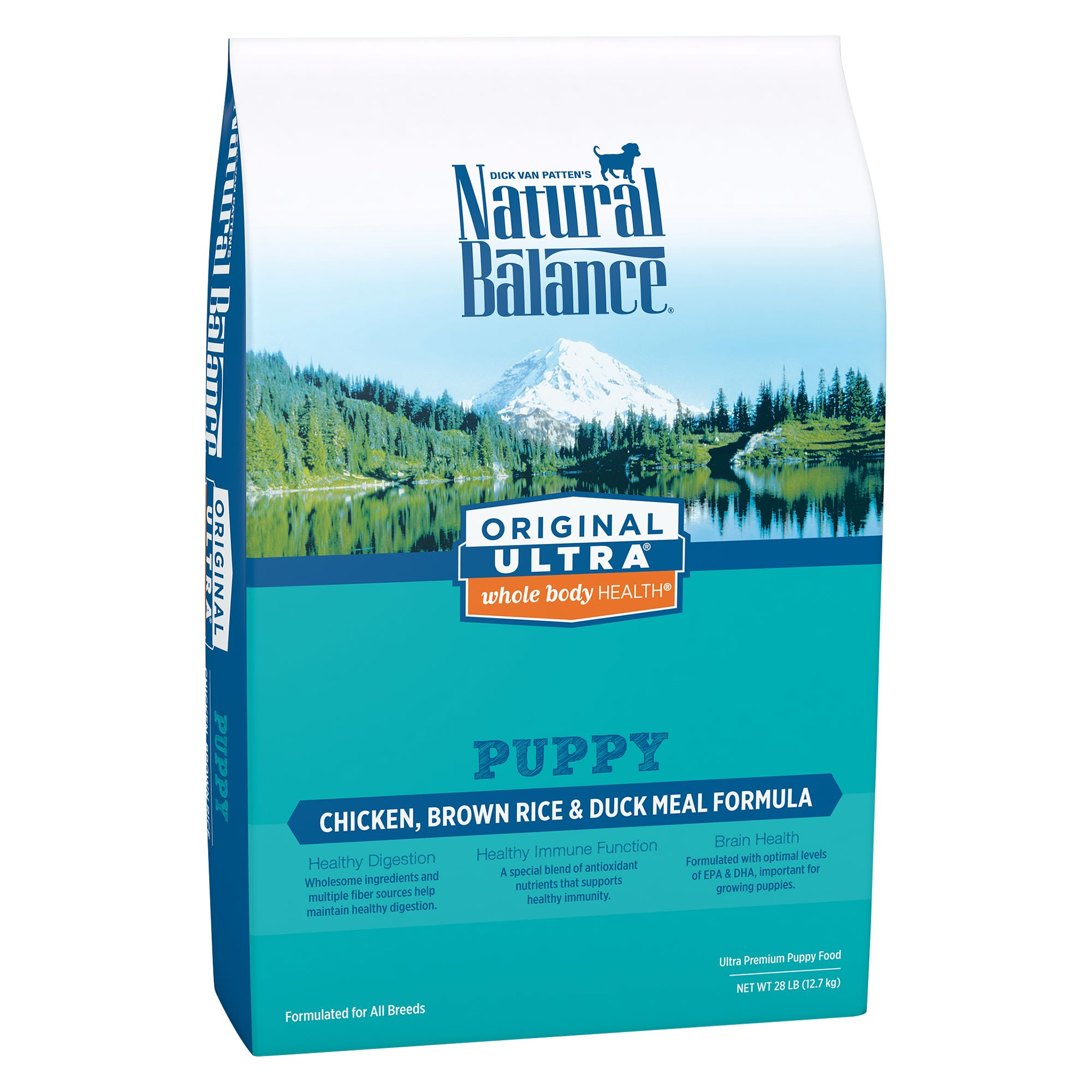 Natural Balance Original Ultra Whole Body Health Puppy Food- Gluten Free, Chicken, Brown Rice and Duck size: 28 Lb 5235169