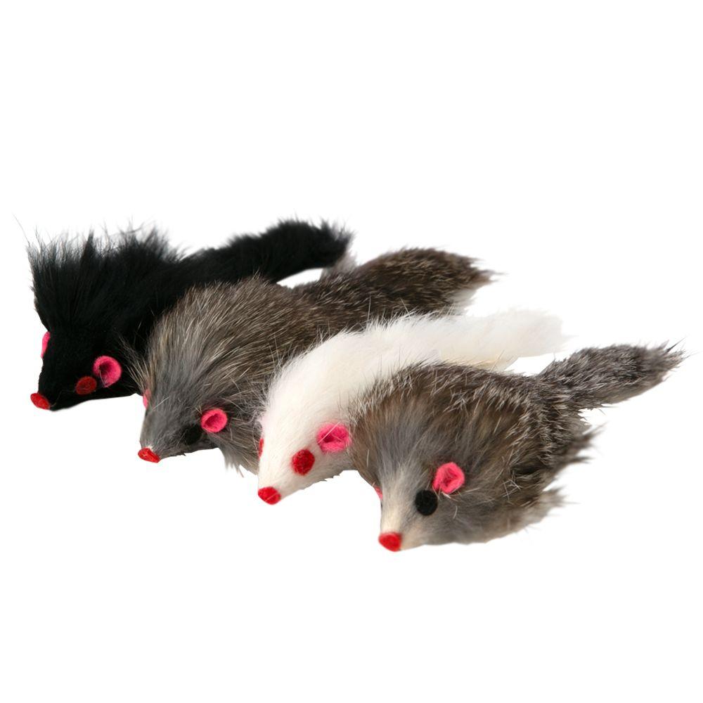 Grreat Choice 4 Pack Fur Mice Cat Toy