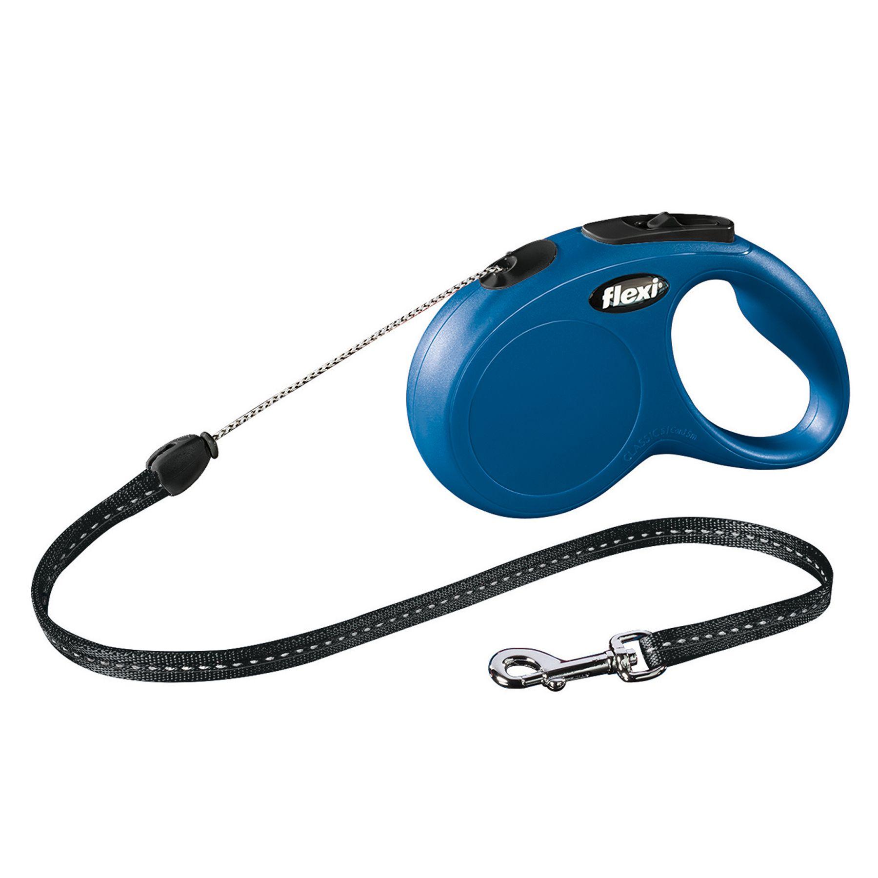 Flexi Classic Retractable Cord Dog Leash Size Small Blue