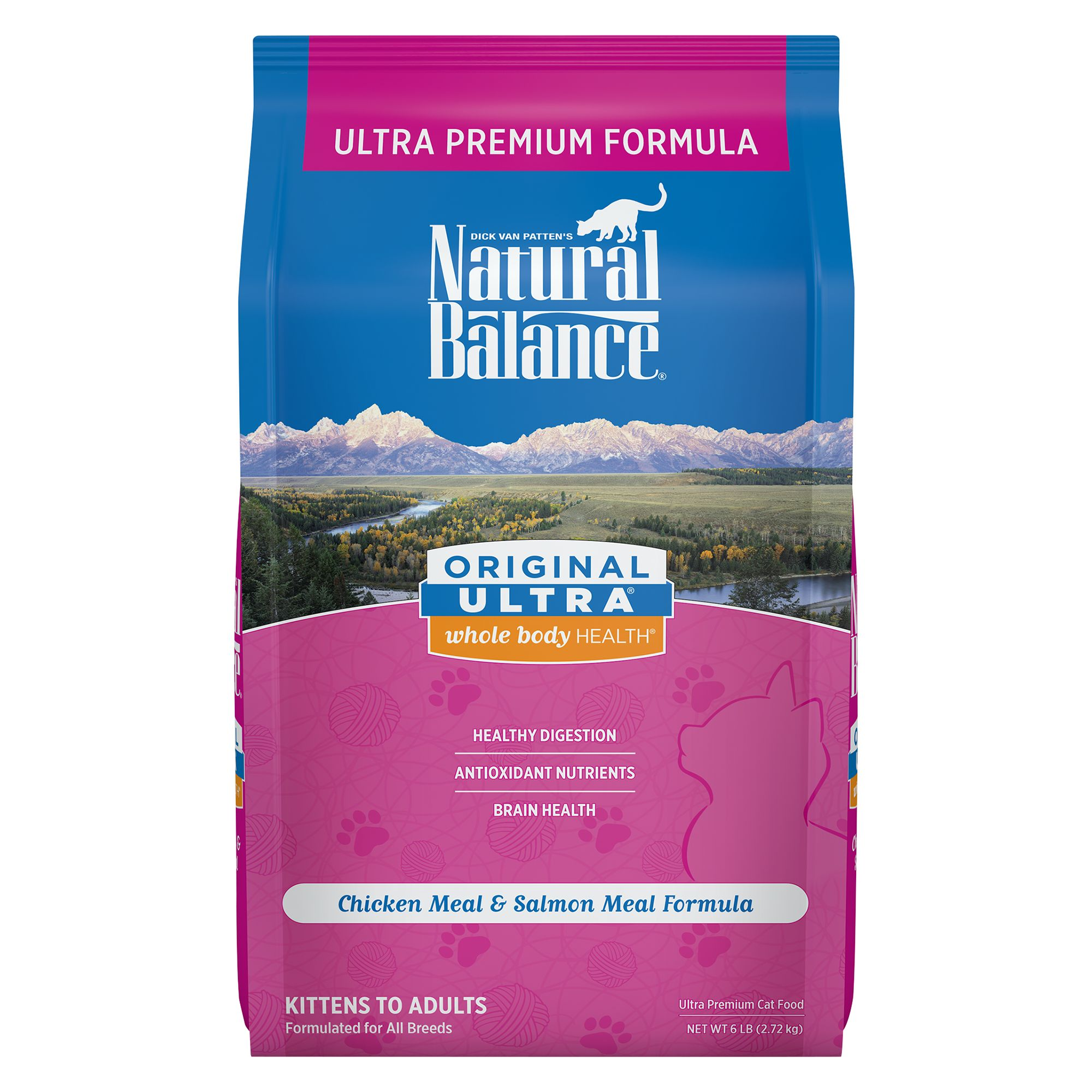 Natural Balance Original Ultra Whole Body Health Cat Food - Gluten Free, Chicken Meal and Salmon Meal size: 6 Lb, Chicken and Salmon, Kibble, Adult 5235445