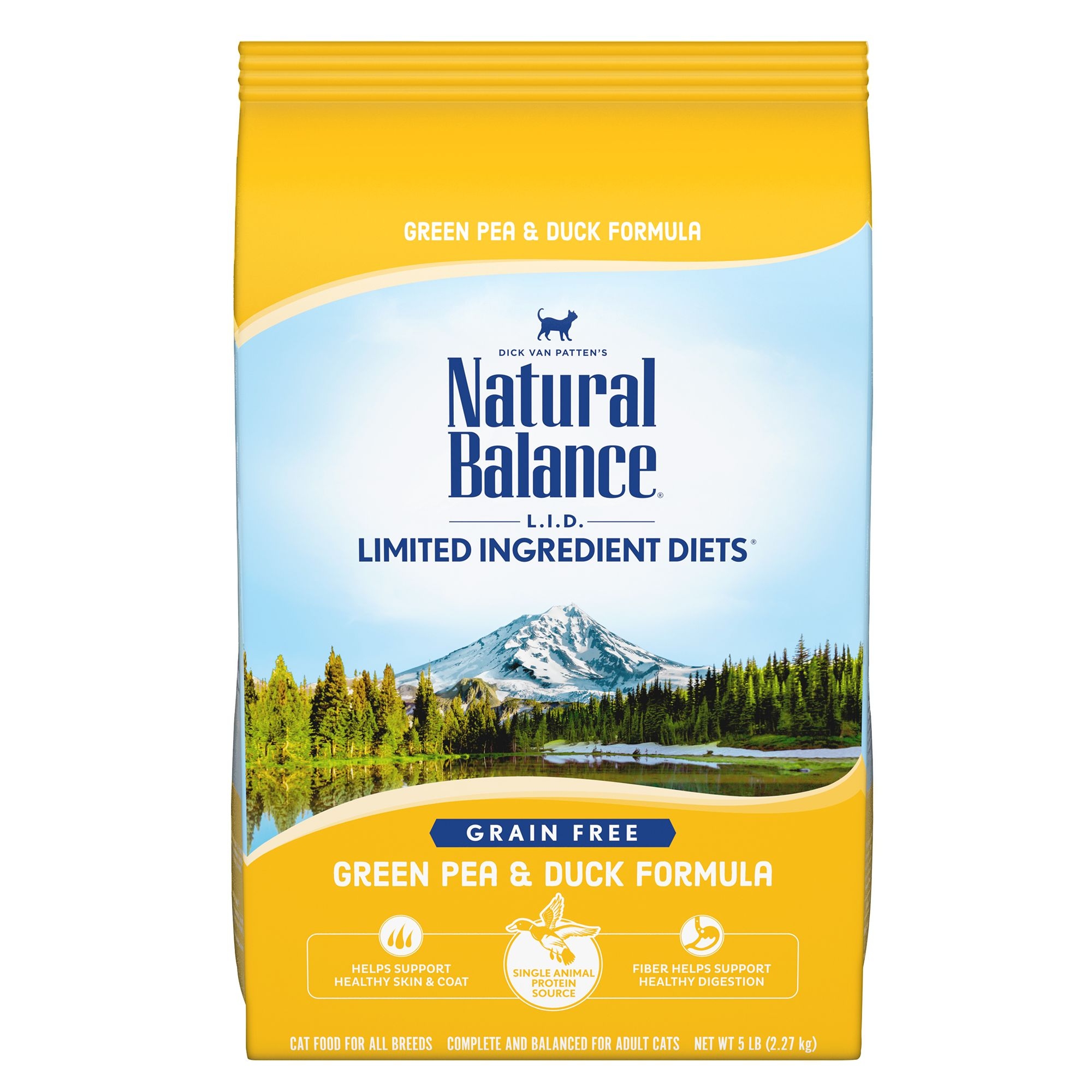 Natural Balance Limited Ingredient Diets Cat Food Grain Free Green Pea And Duck Size 5 Lb