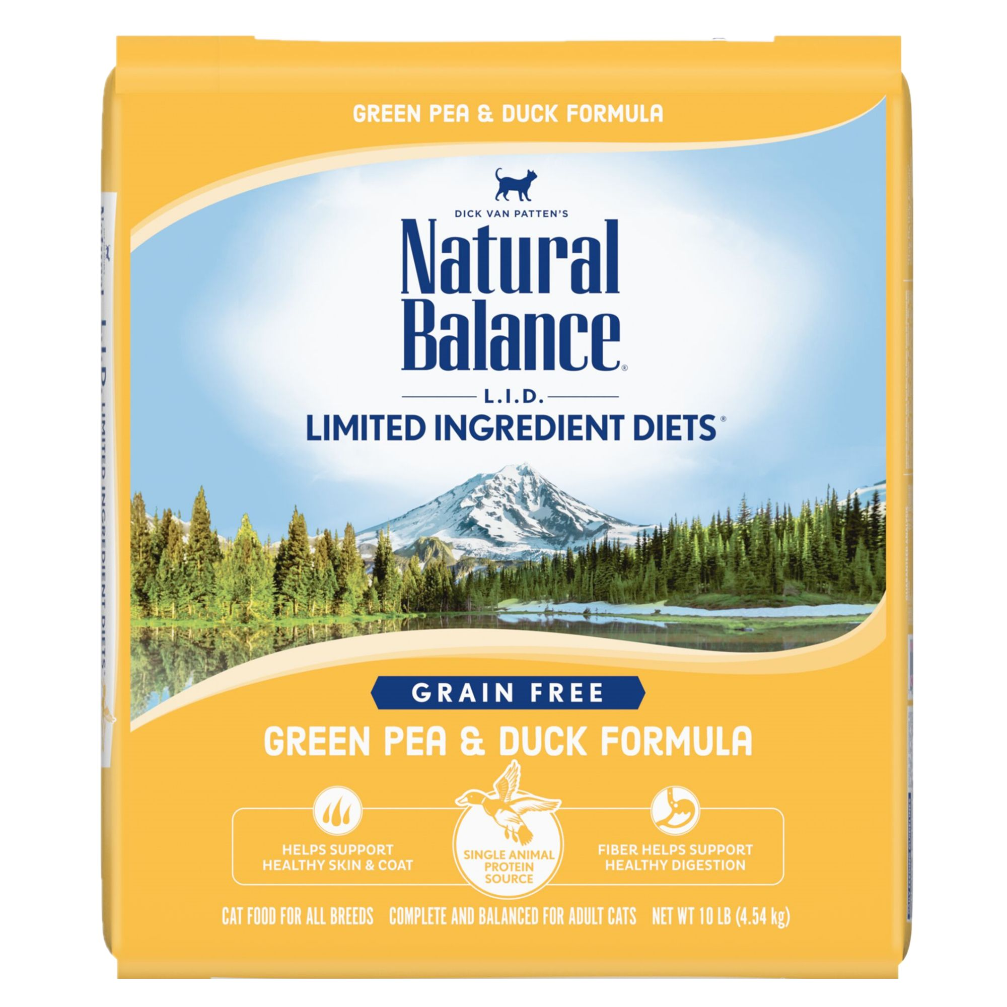 Natural Balance Limited Ingredient Diets Cat Food Grain Free Green Pea And Duck Size 10 Lb Kibble Adult Peas