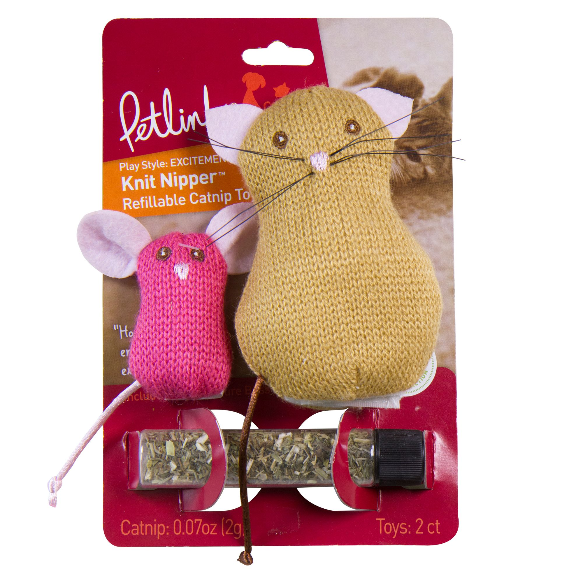 Petlinks Knit Nipper, Cat and Mouse Cat Toy - Catnip 5235533