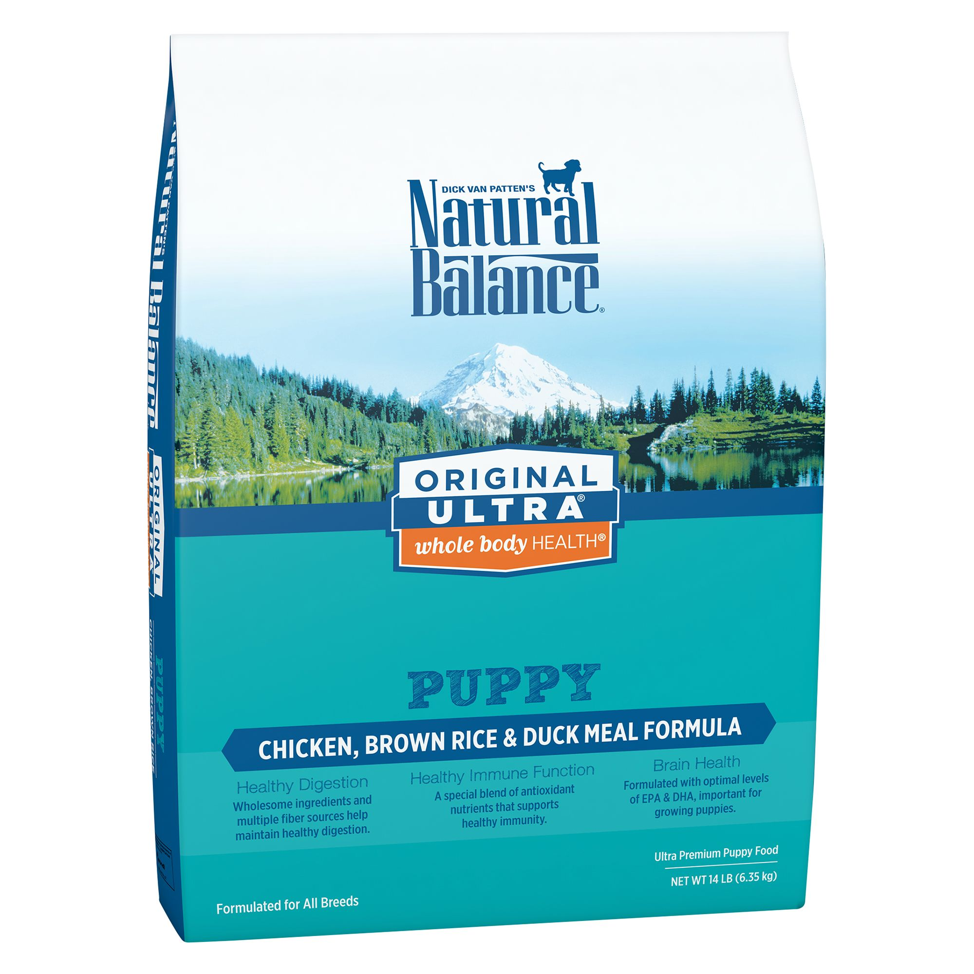 Natural Balance Original Ultra Whole Body Health Puppy Food- Gluten Free, Chicken, Brown Rice and Duck size: 14 Lb, Kibble