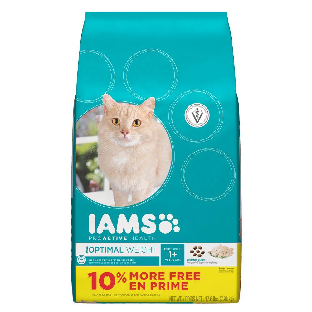 Iams ProActive Health Weight Control Adult Cat Food size: 17.6 Lb Bonus Bag 5236509
