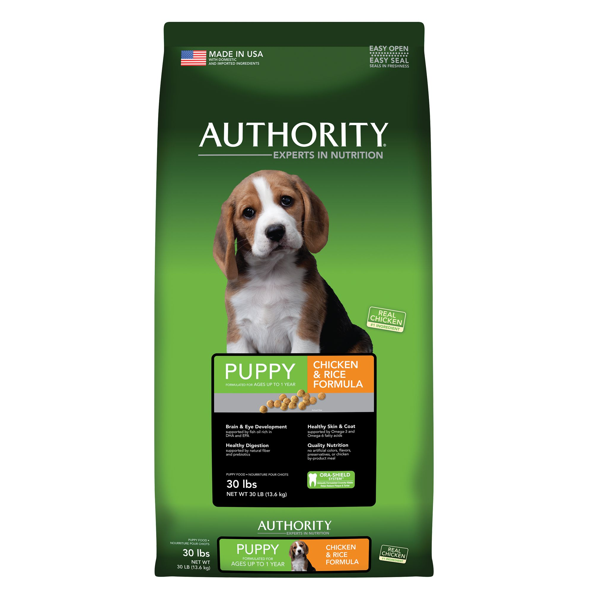 Authority Puppy Food - Chicken and Rice size: 30 Lb 5236658