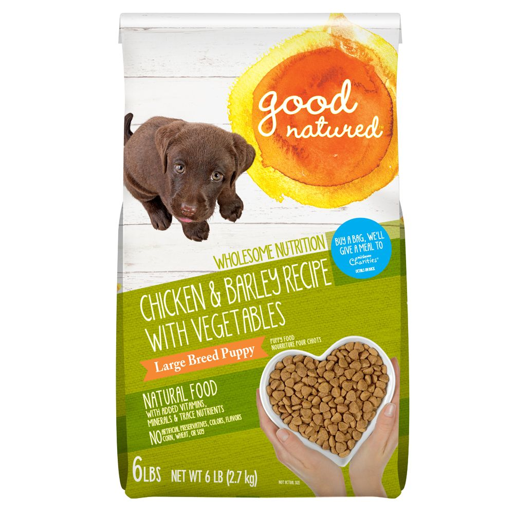Good Natured Large Breed Puppy Food Natural Chicken And Barley Size 6 Lb